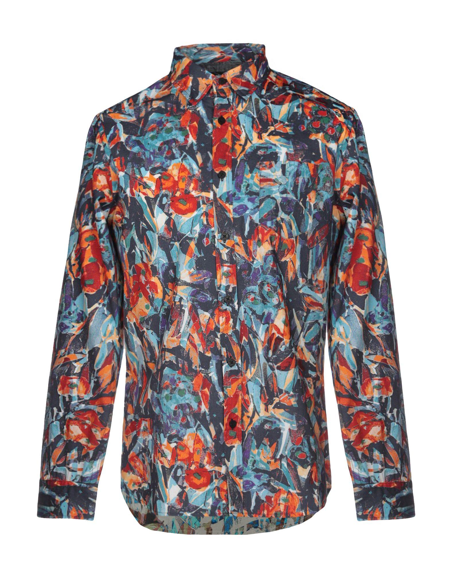 《期間限定セール中》DESIGUAL メンズ シャツ ブルー S コットン 100%