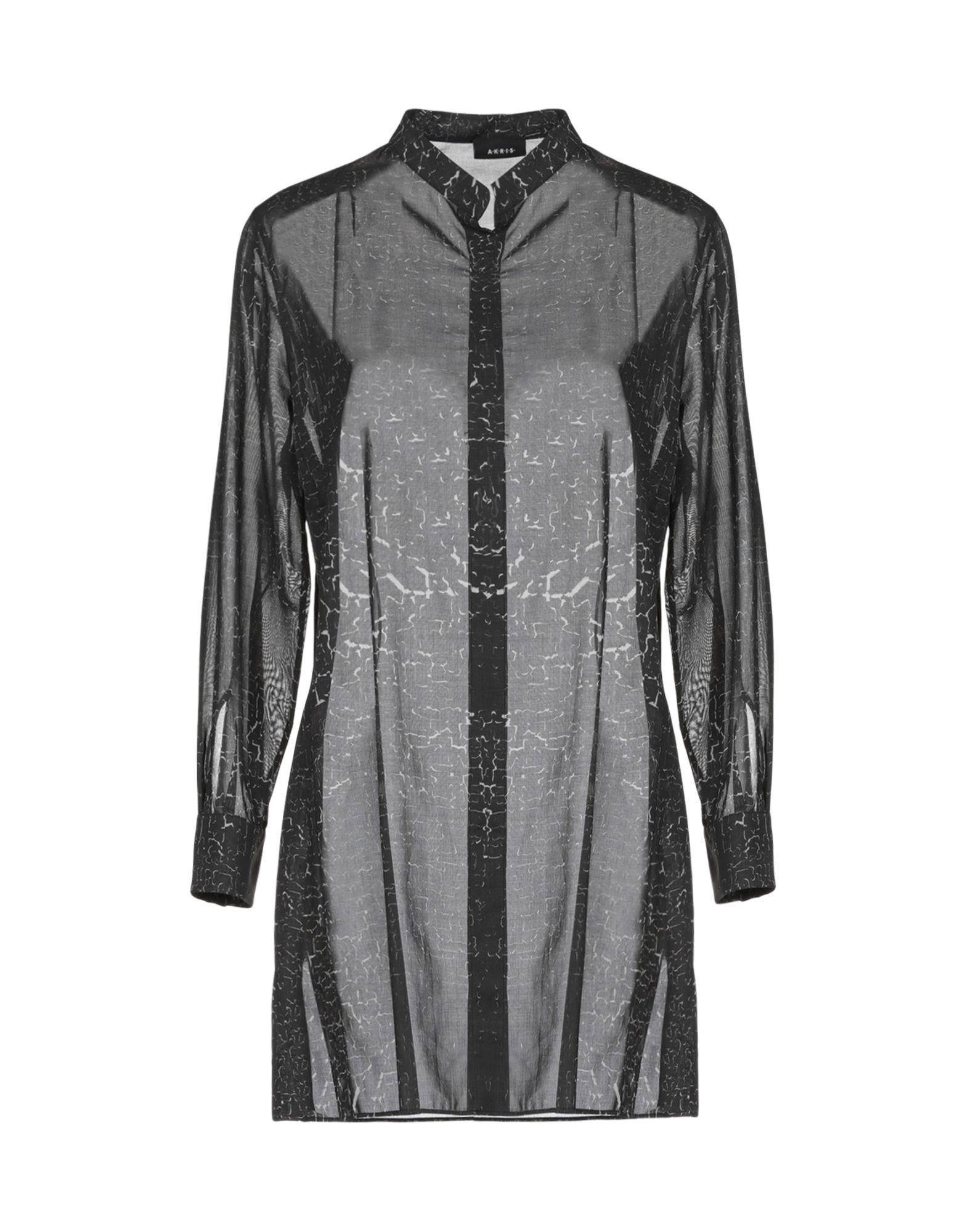 《送料無料》AKRIS レディース シャツ 鉛色 38 コットン 100%