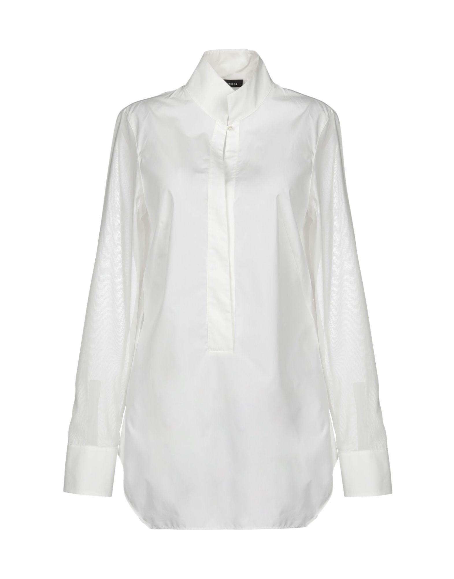 《送料無料》AKRIS レディース シャツ ホワイト 38 コットン 100%