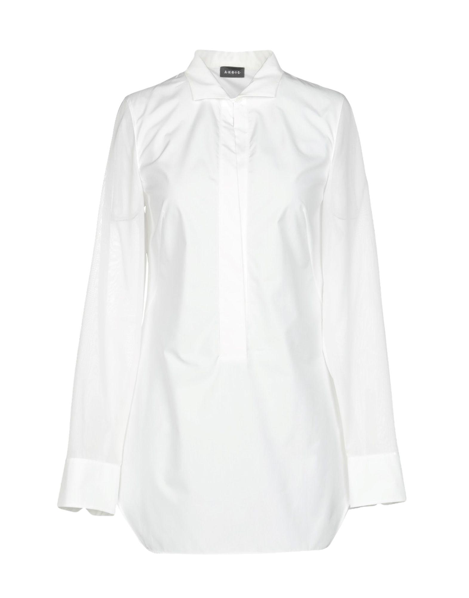 《送料無料》AKRIS レディース シャツ ホワイト 36 コットン 100%