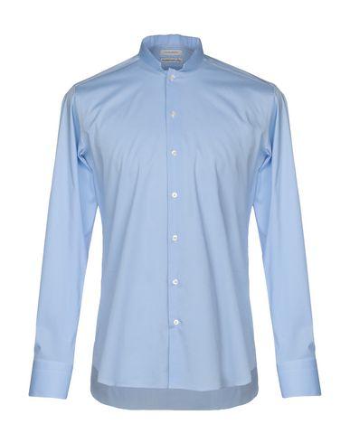 Купить Pубашка от PAOLO PECORA небесно-голубого цвета