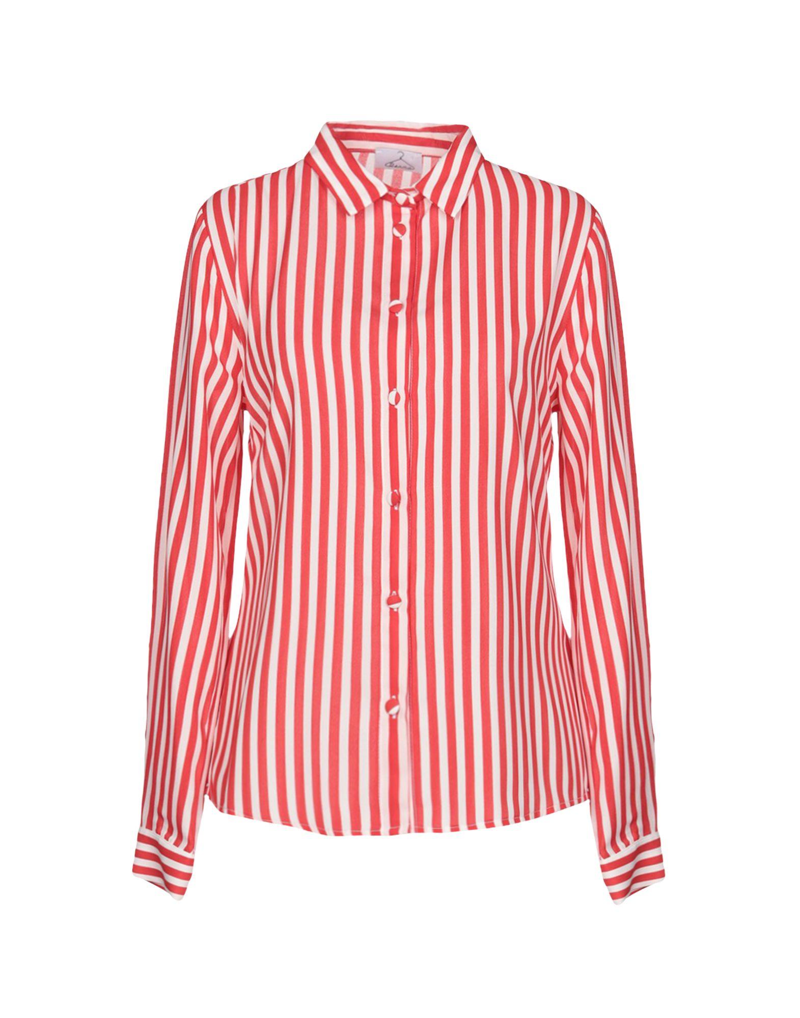 《期間限定セール中》BERNA レディース シャツ レッド M 100% ポリエステル