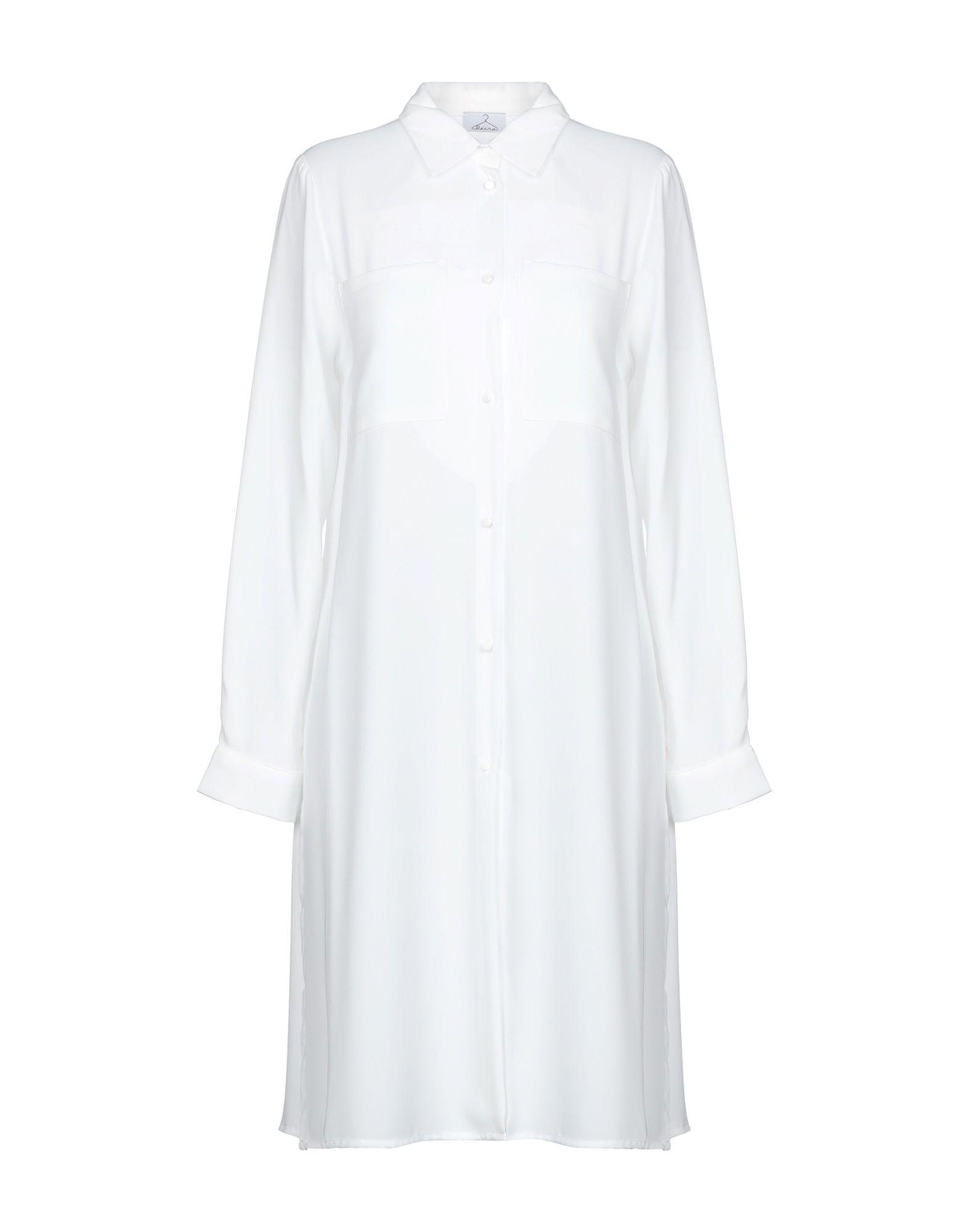《期間限定セール中》BERNA レディース シャツ ホワイト S 100% ポリエステル