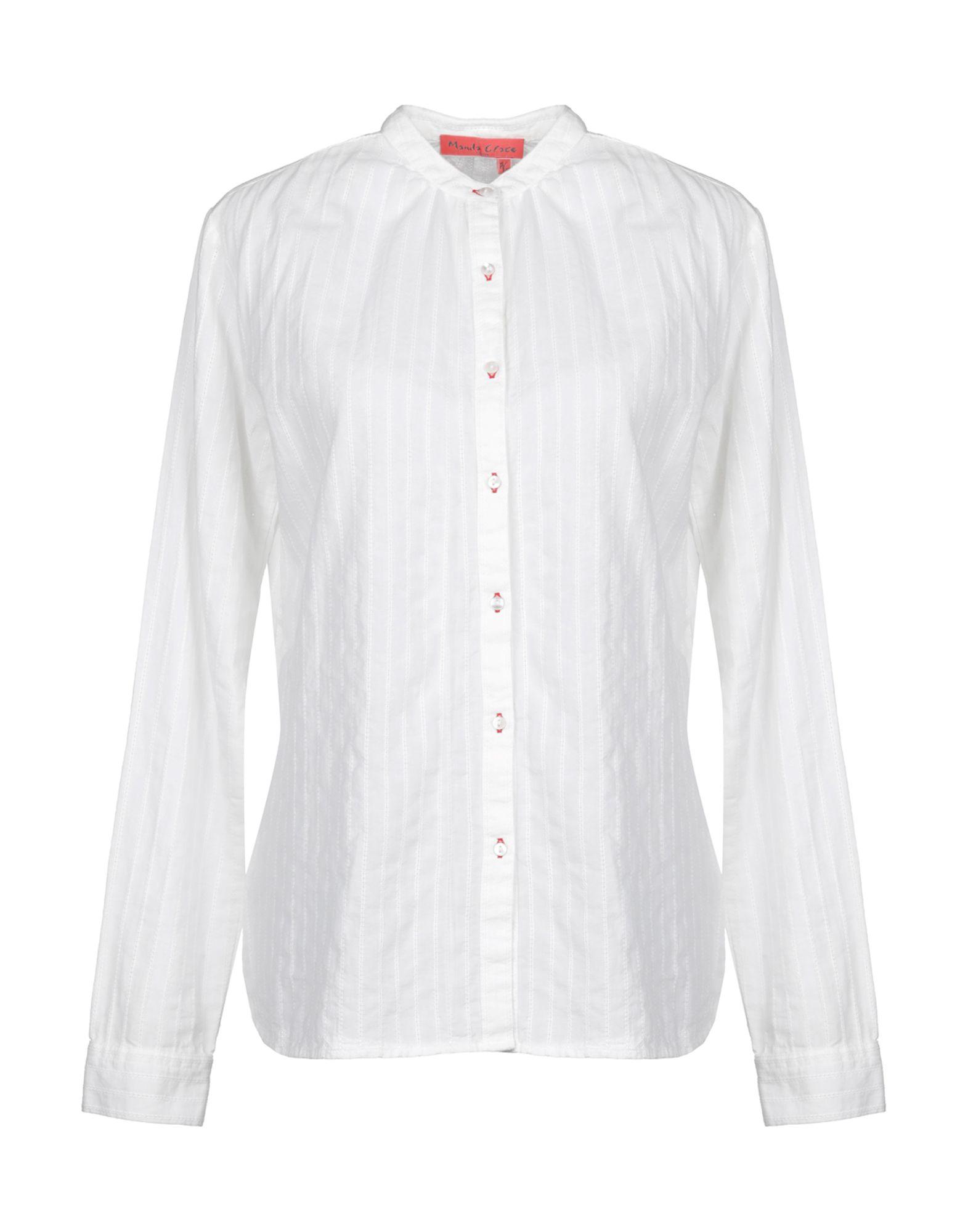 《送料無料》MANILA GRACE DENIM レディース シャツ アイボリー 42 コットン 100%