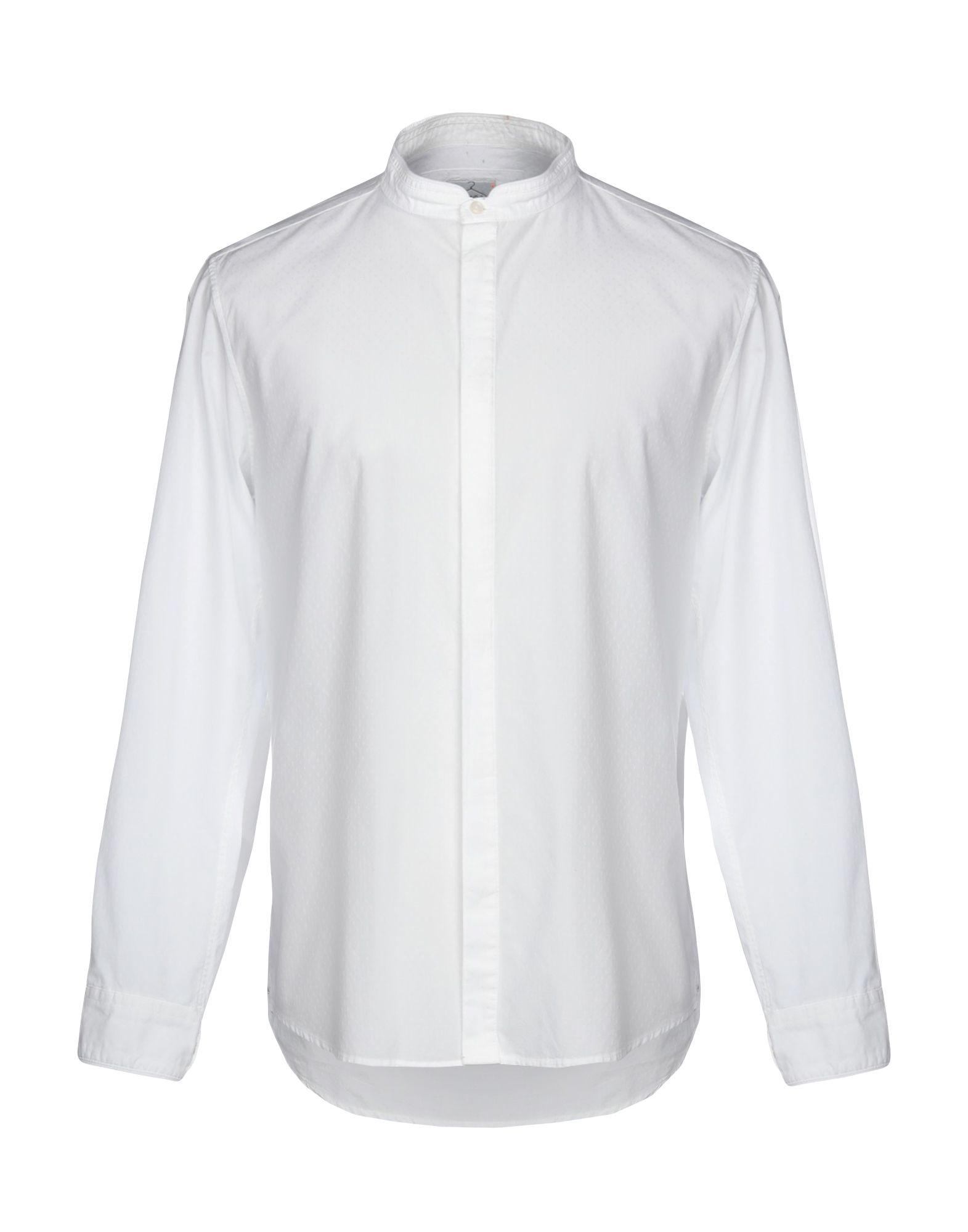 《期間限定セール中》BERNA メンズ シャツ ホワイト L 100% コットン