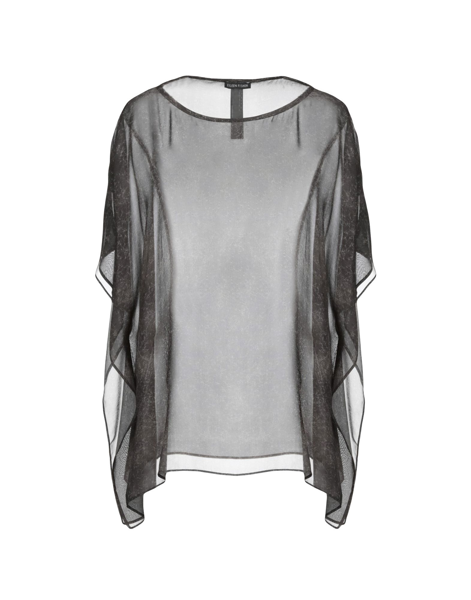 EILEEN FISHER Блузка eileen fisher new black long sleeve drape top msrp $278 00