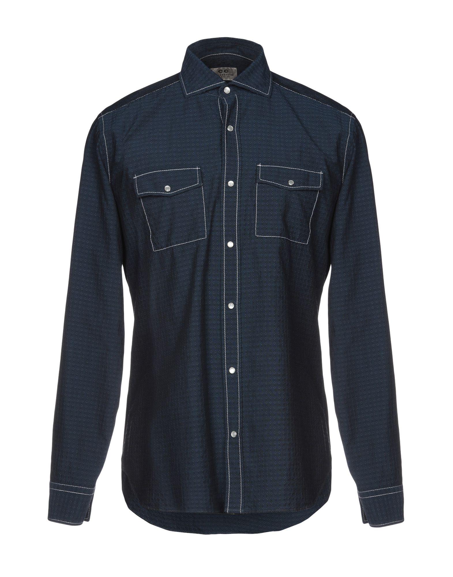 《送料無料》CC COLLECTION CORNELIANI メンズ シャツ ブルー 41 コットン 100%