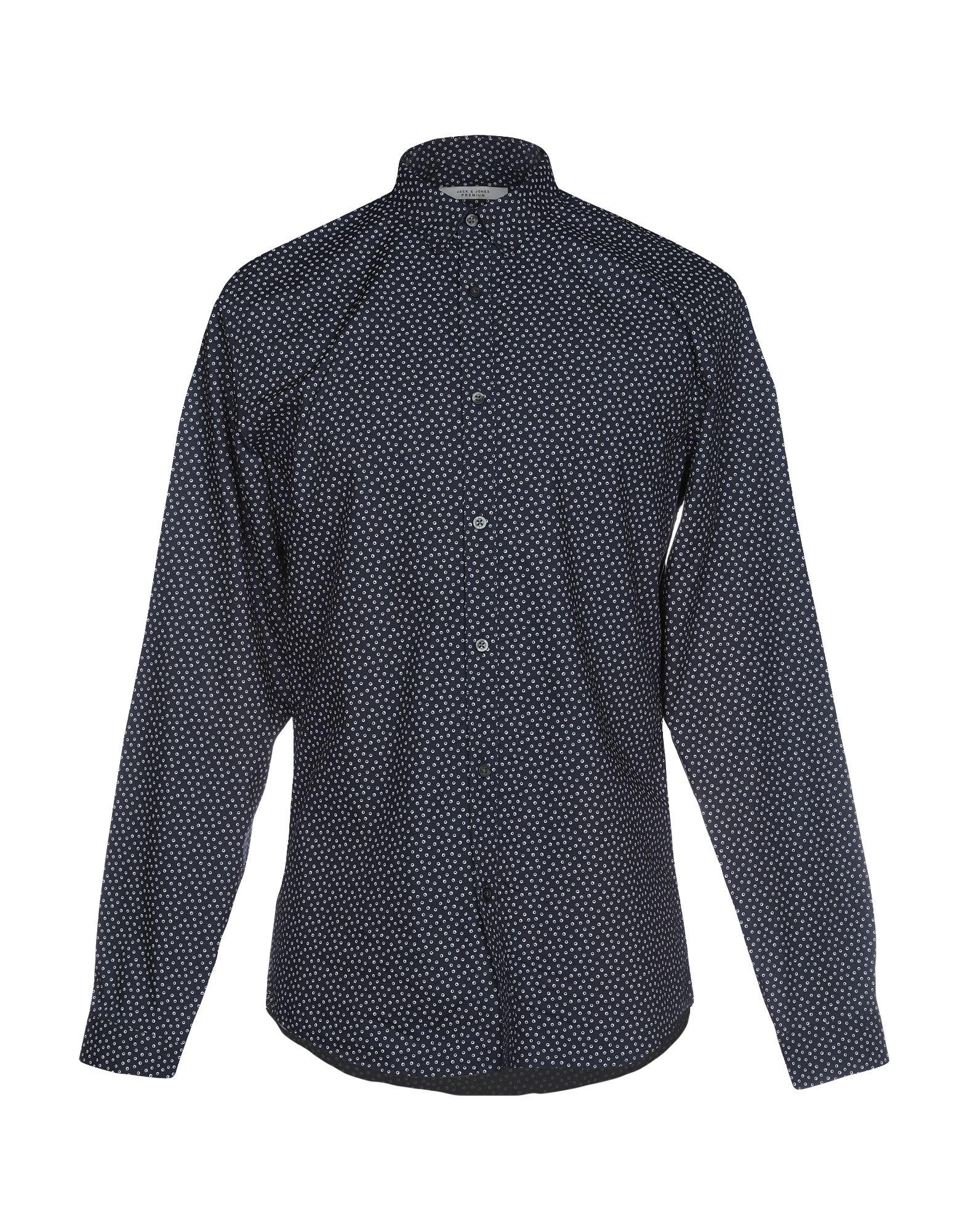 《期間限定セール開催中!》JACK & JONES PREMIUM メンズ シャツ ダークブルー 38 コットン 100%