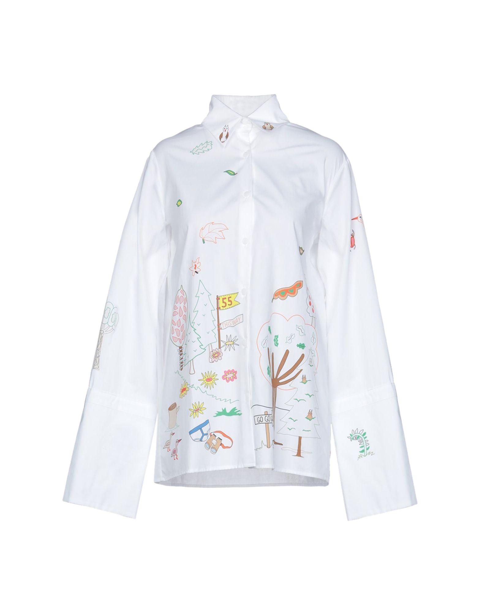 MIRA MIKATI Pубашка mira mikati хлопковая рубашка с вышивкой на спине