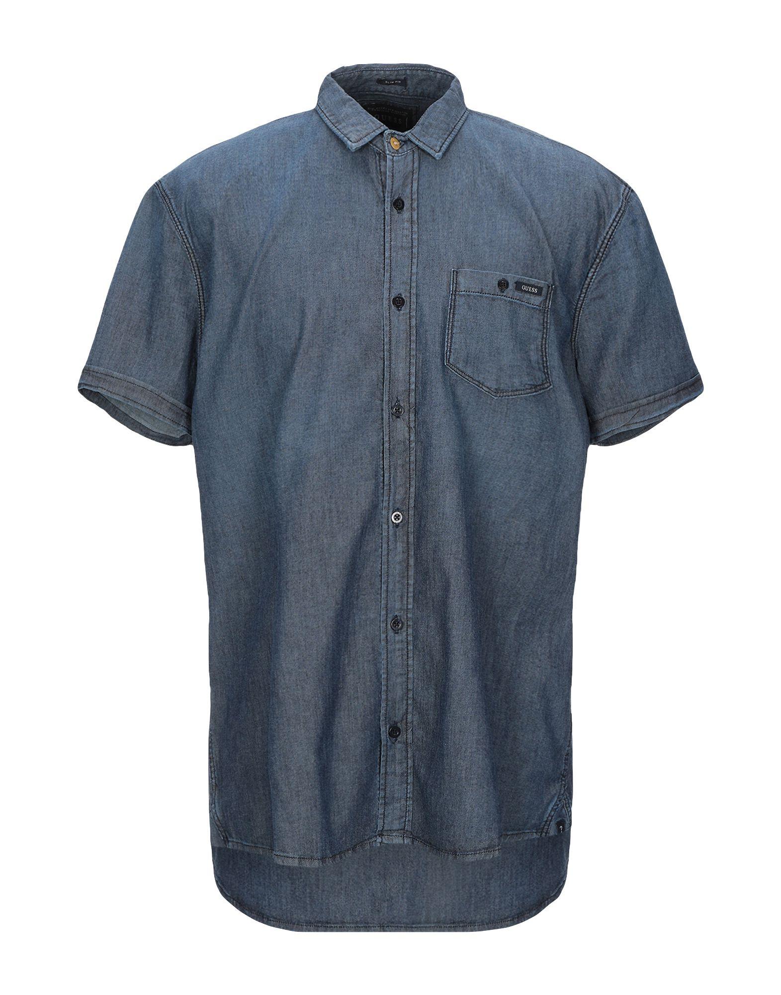 GUESS Джинсовая рубашка рубашка guess guess gu460ebeamz8