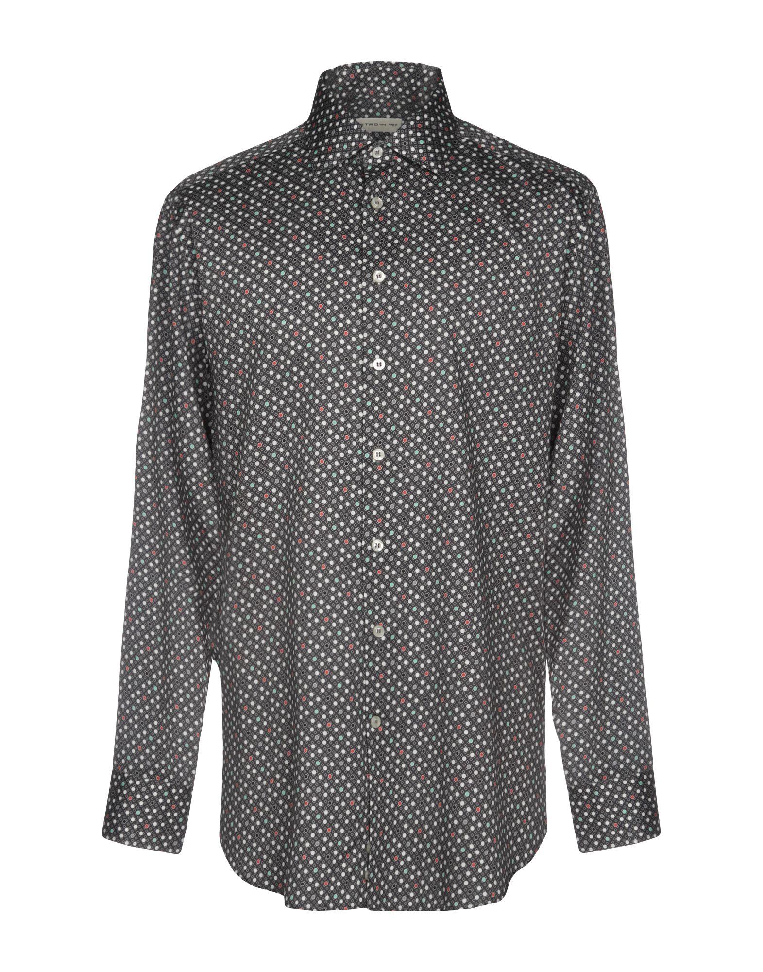 《送料無料》ETRO メンズ シャツ スチールグレー 44 100% コットン
