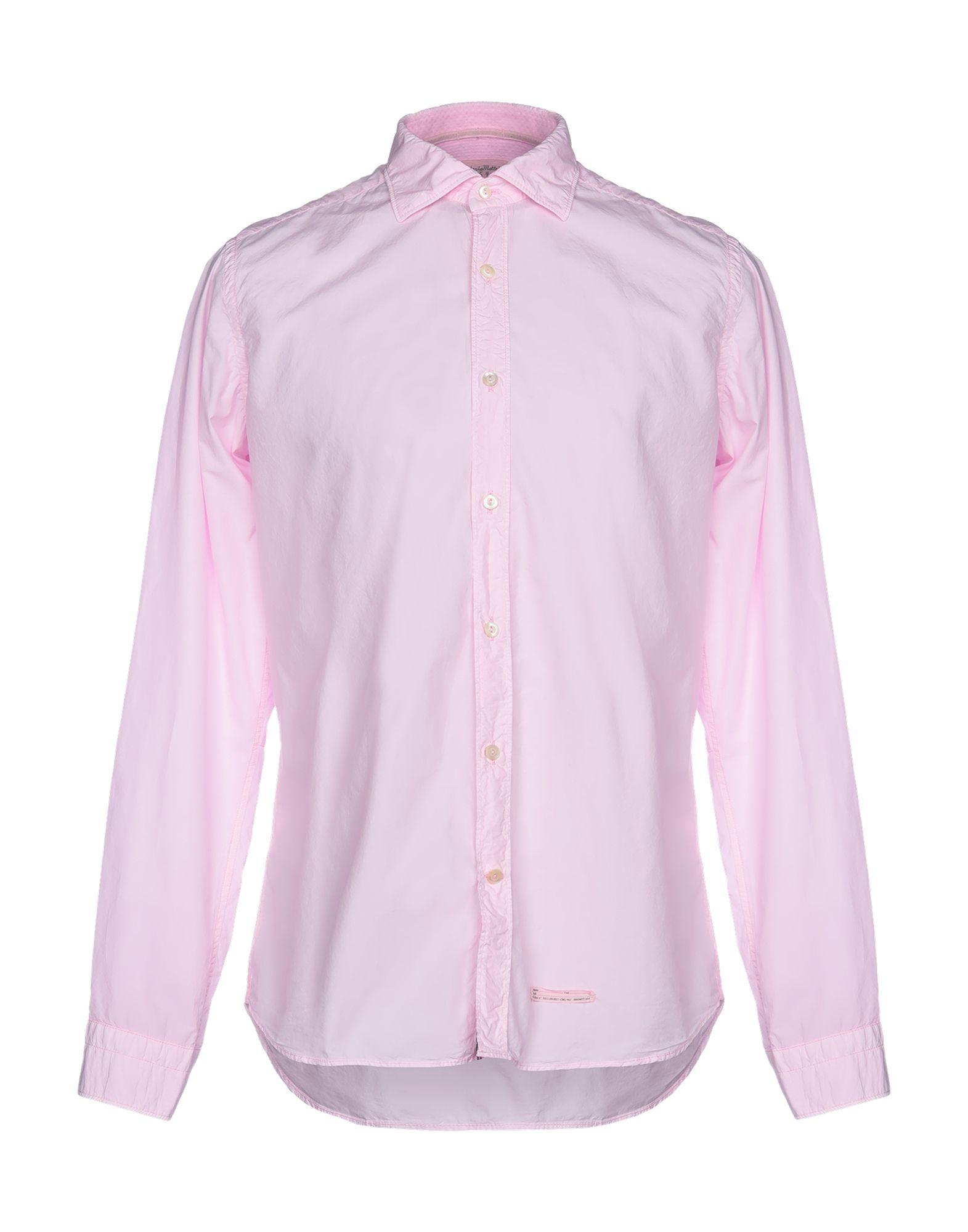 《送料無料》TINTORIA MATTEI 954 メンズ シャツ ピンク 41 コットン 100%