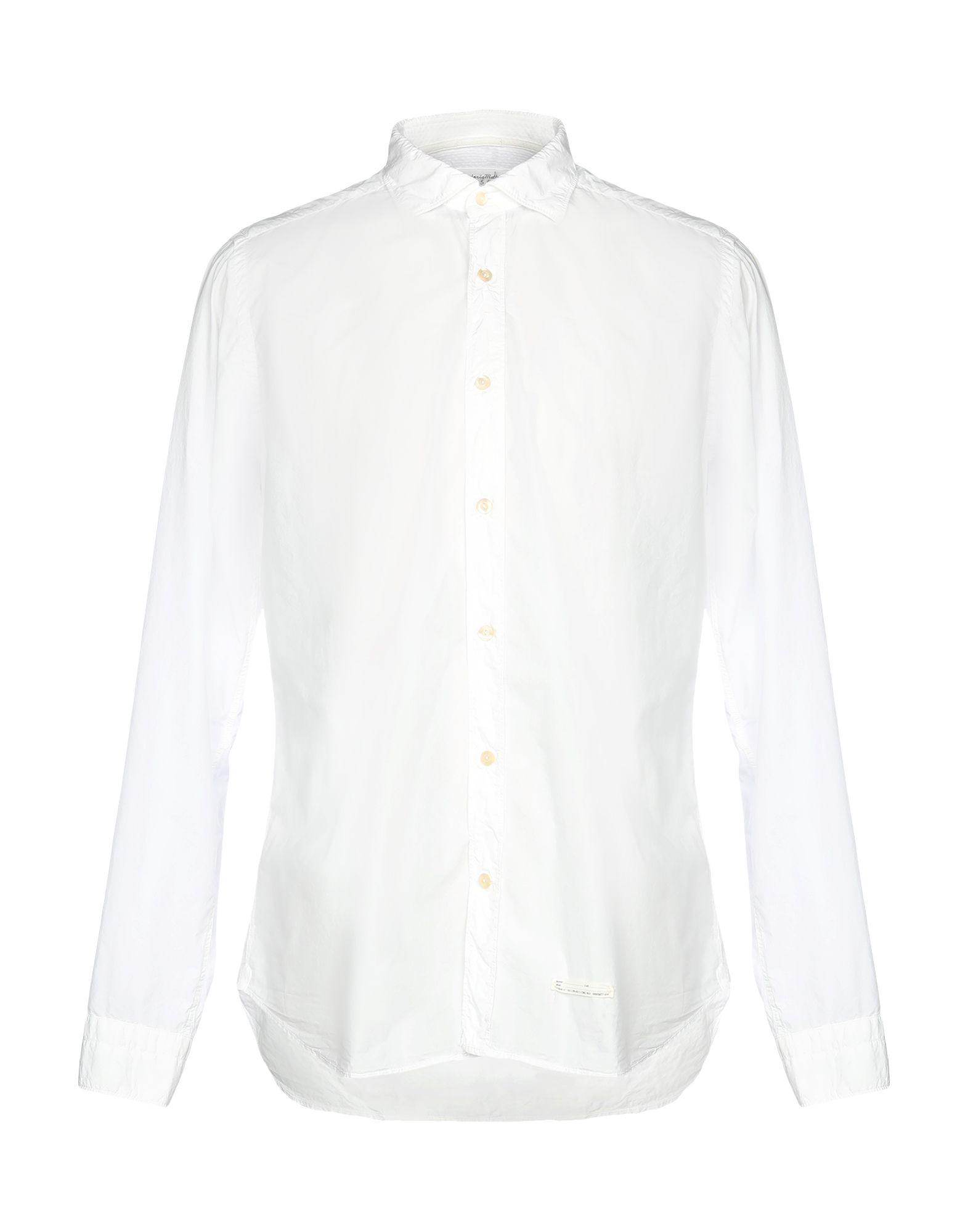 《セール開催中》TINTORIA MATTEI 954 メンズ シャツ ホワイト 38 100% コットン