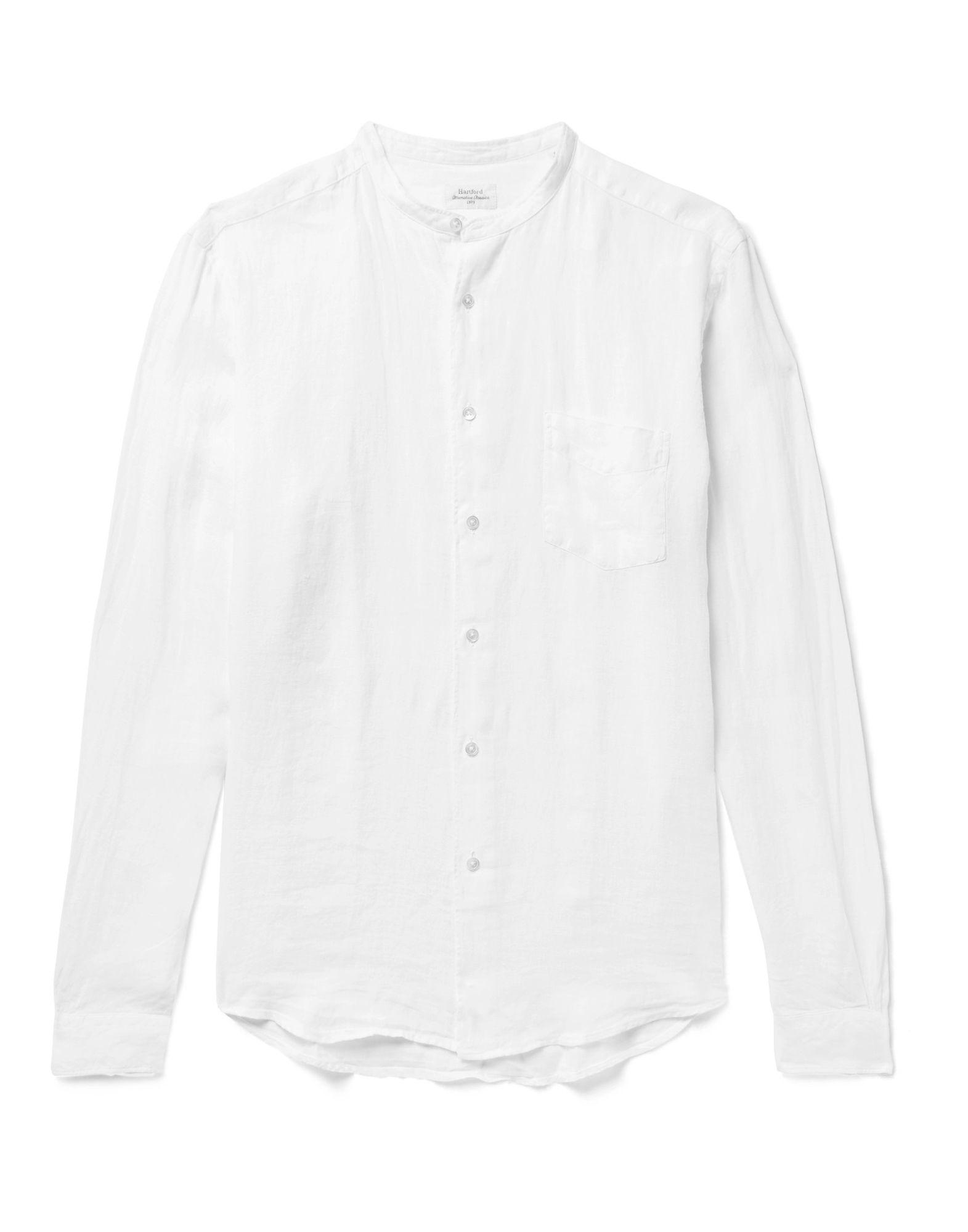 《セール開催中》HARTFORD メンズ シャツ ホワイト XL 麻 100%