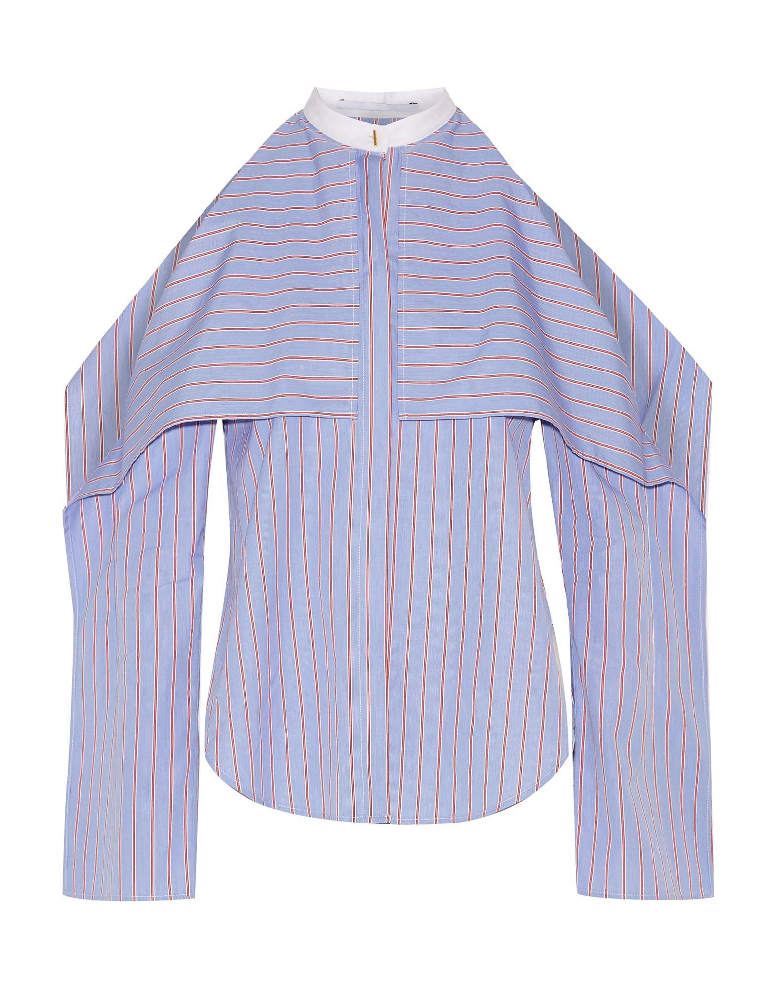 《送料無料》ROSETTA GETTY レディース シャツ ブルー 4 コットン 100%