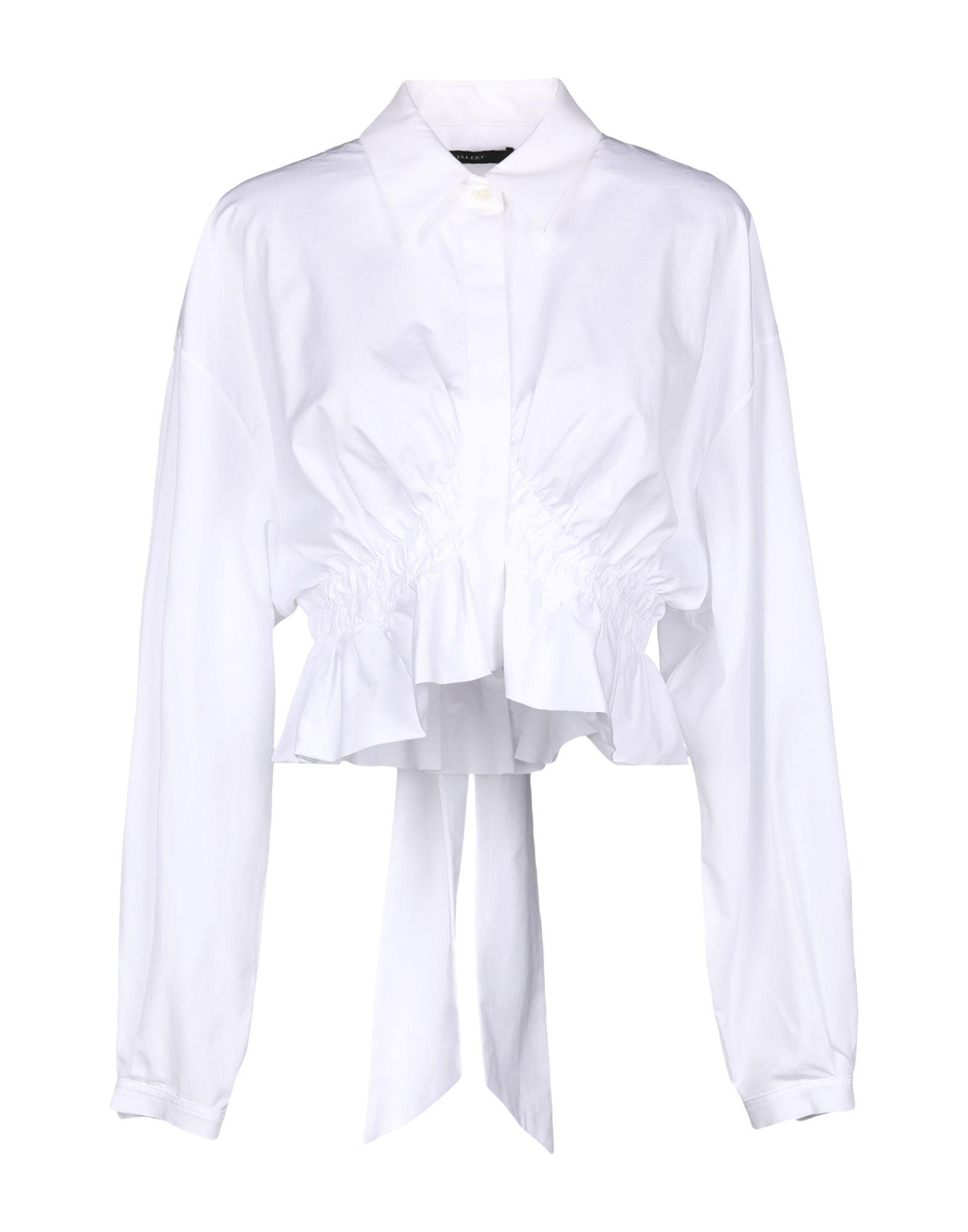 《セール開催中》ELLERY レディース シャツ ホワイト 8 コットン 100%