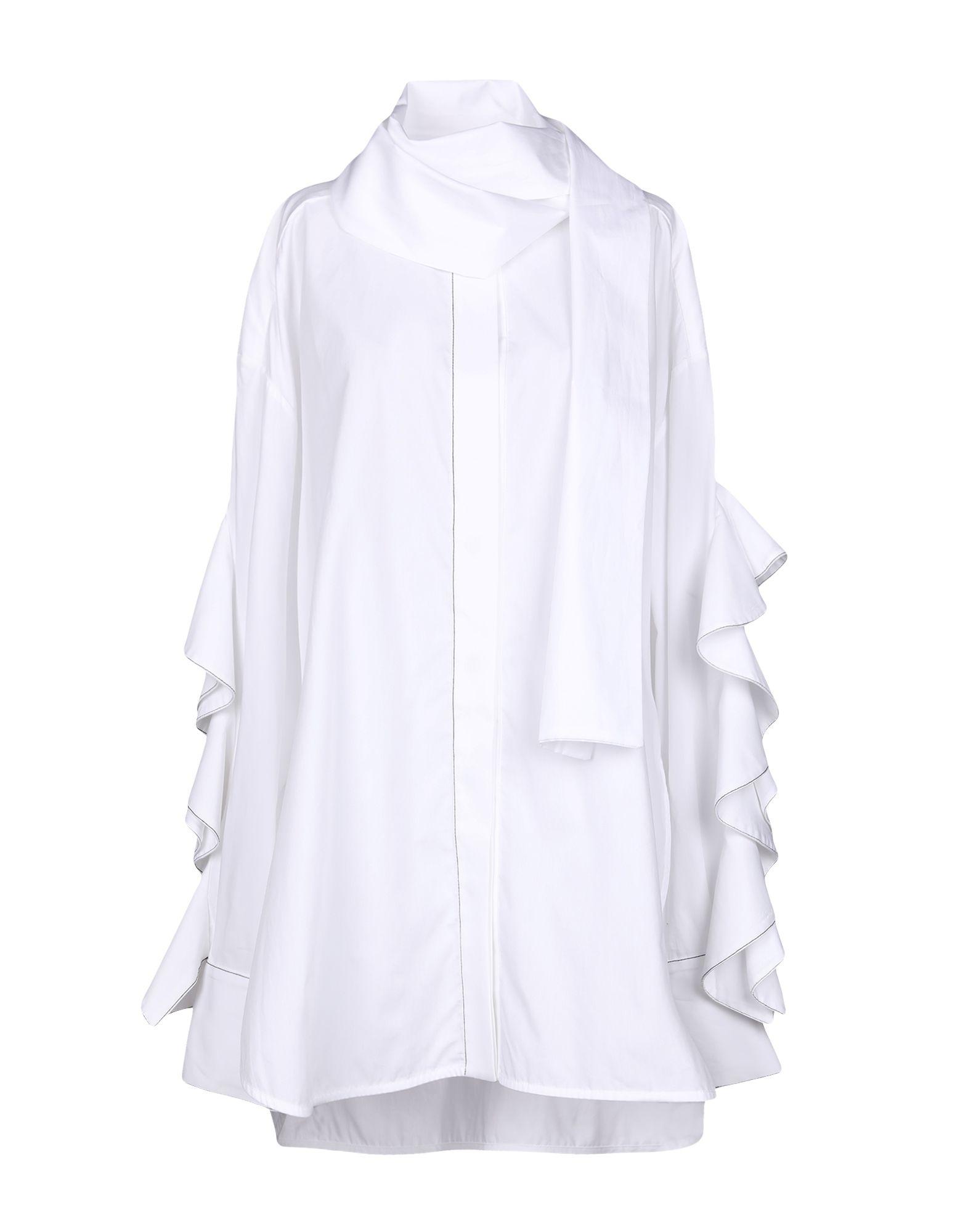 《セール開催中》ELLERY レディース シャツ ホワイト 8 100% コットン