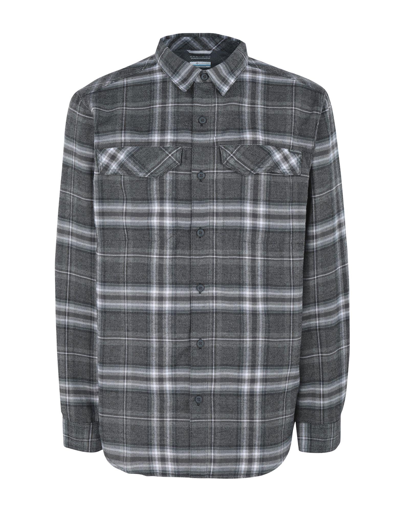 《期間限定セール中》COLUMBIA メンズ シャツ グレー S ポリエステル 100% Silver Ridge Flannel