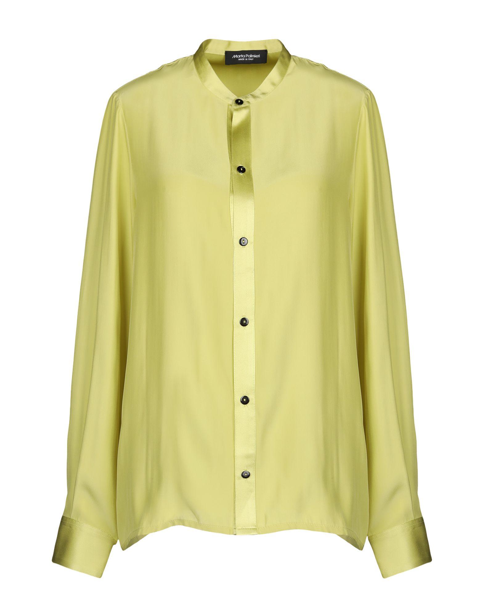 《送料無料》MARTA PALMIERI レディース シャツ ライトグリーン 44 100% ポリエステル