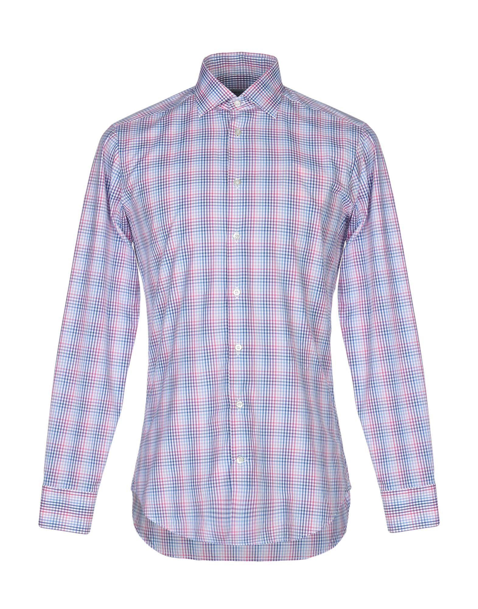 《送料無料》ETRO メンズ シャツ ピンク 39 100% コットン