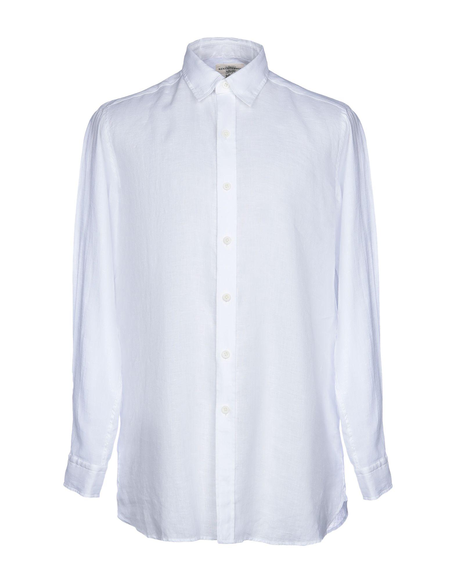 《送料無料》KENT & CURWEN メンズ シャツ ホワイト XS 麻 100%