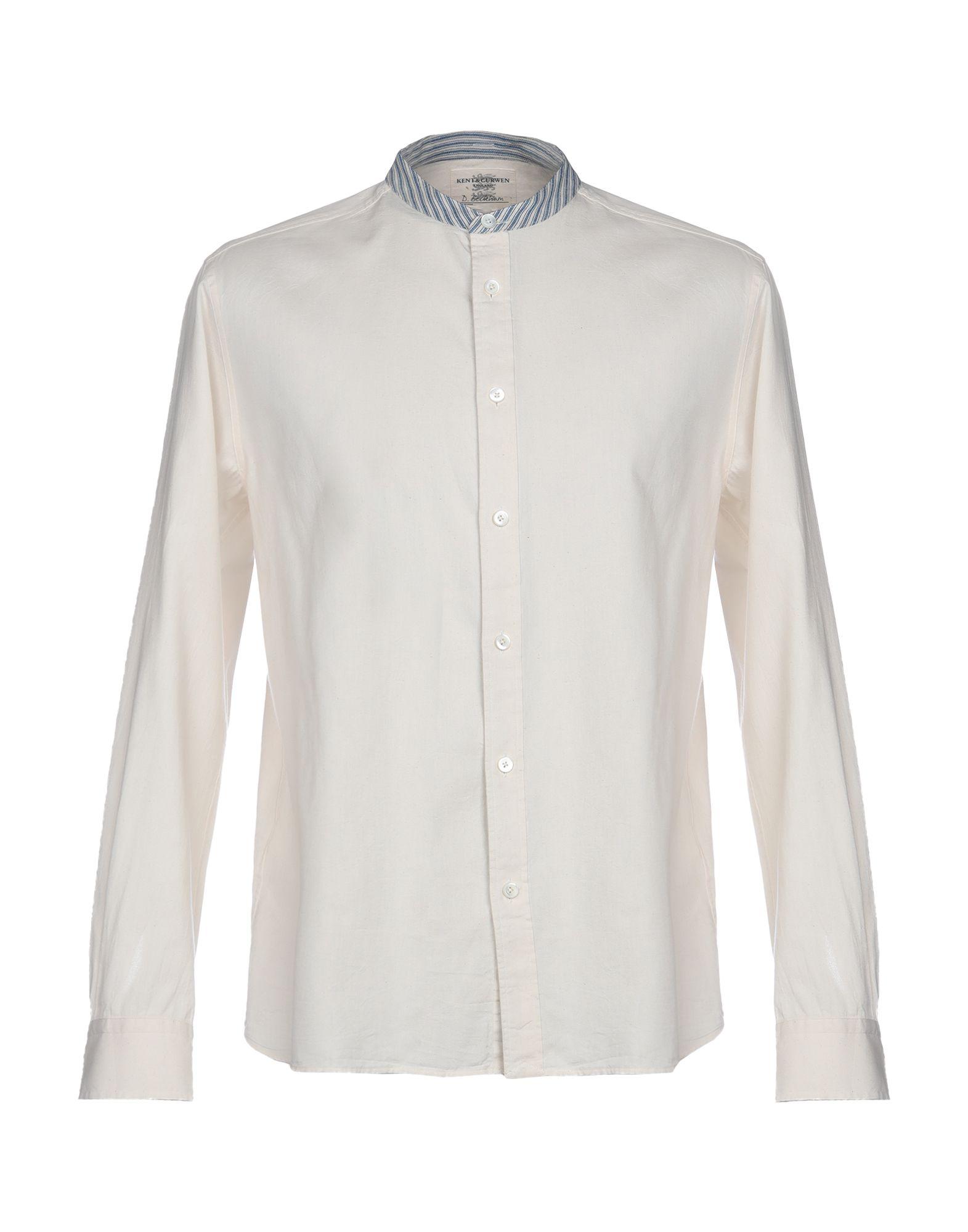 《期間限定セール中》KENT & CURWEN メンズ シャツ ベージュ S 100% コットン