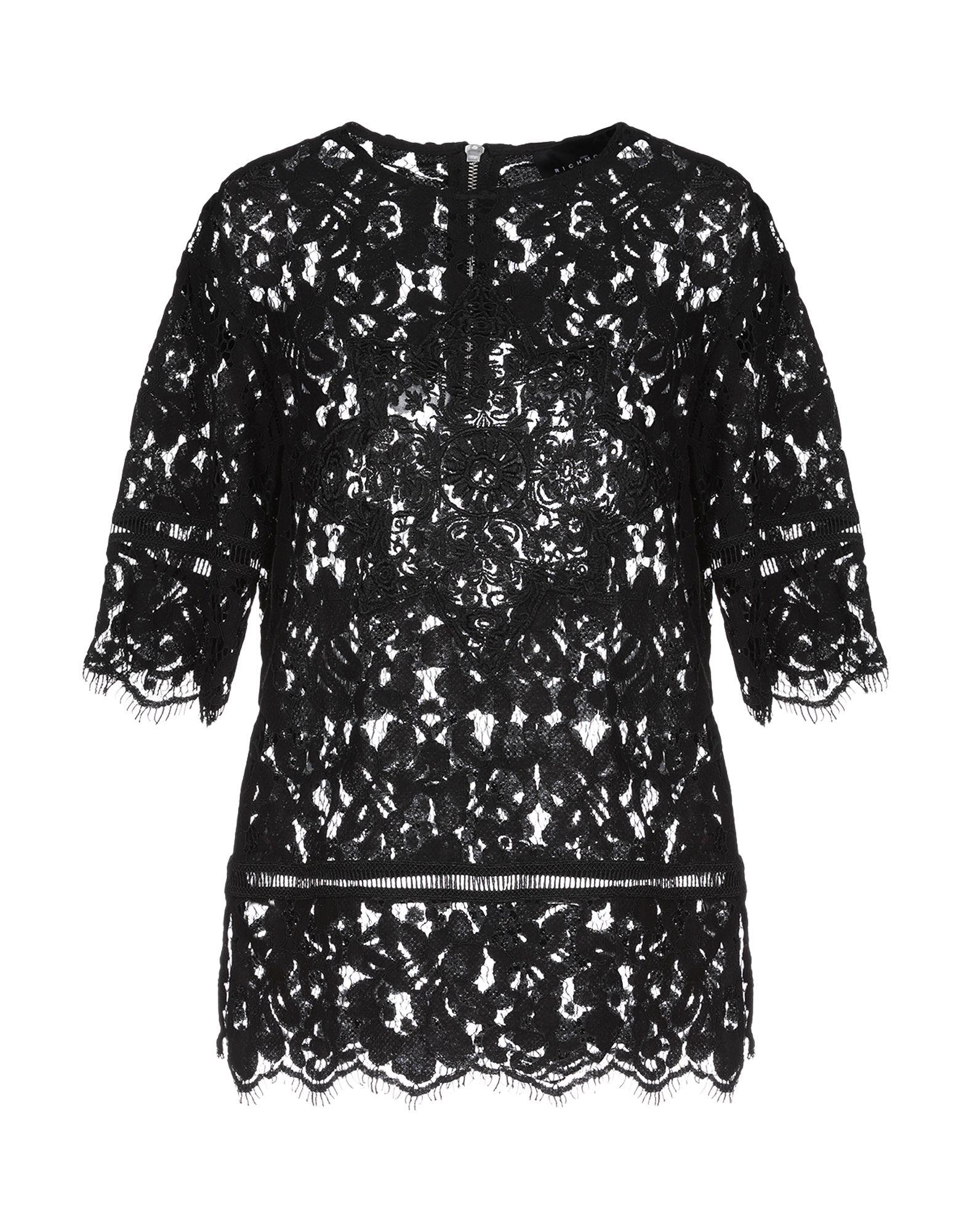JOHN RICHMOND Блузка полуприлегающая блузка с воротником качели john richmond
