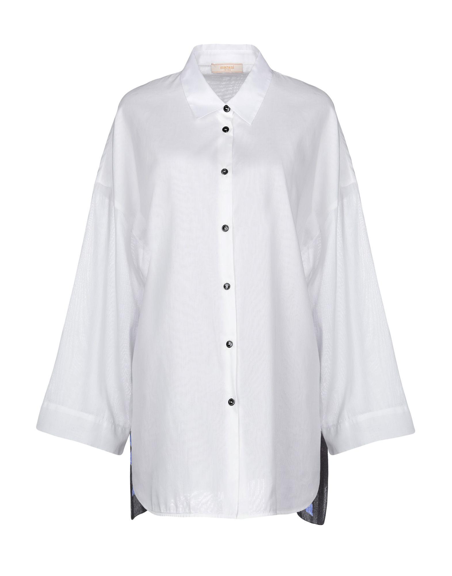 《送料無料》MARANI JEANS レディース シャツ ホワイト L シルク 100%