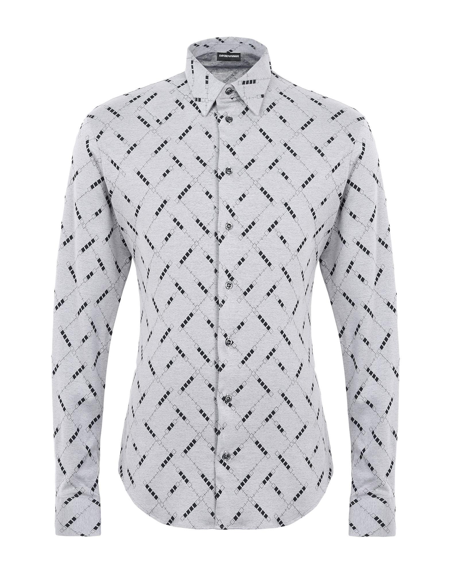 《送料無料》EMPORIO ARMANI メンズ シャツ グレー 39 コットン 100%