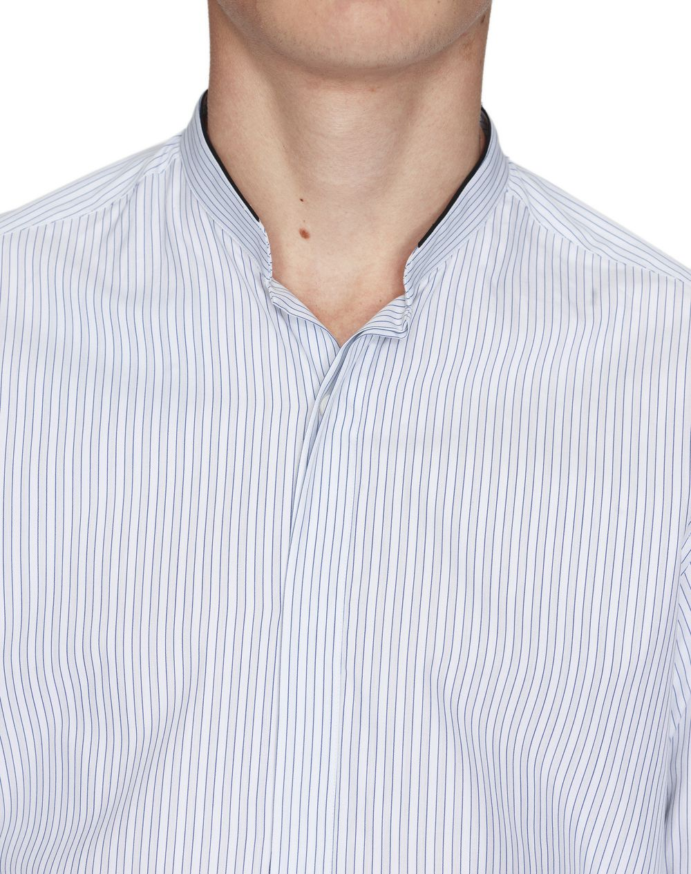 WHITE SHIRT WITH MANDARIN COLLAR  - Lanvin