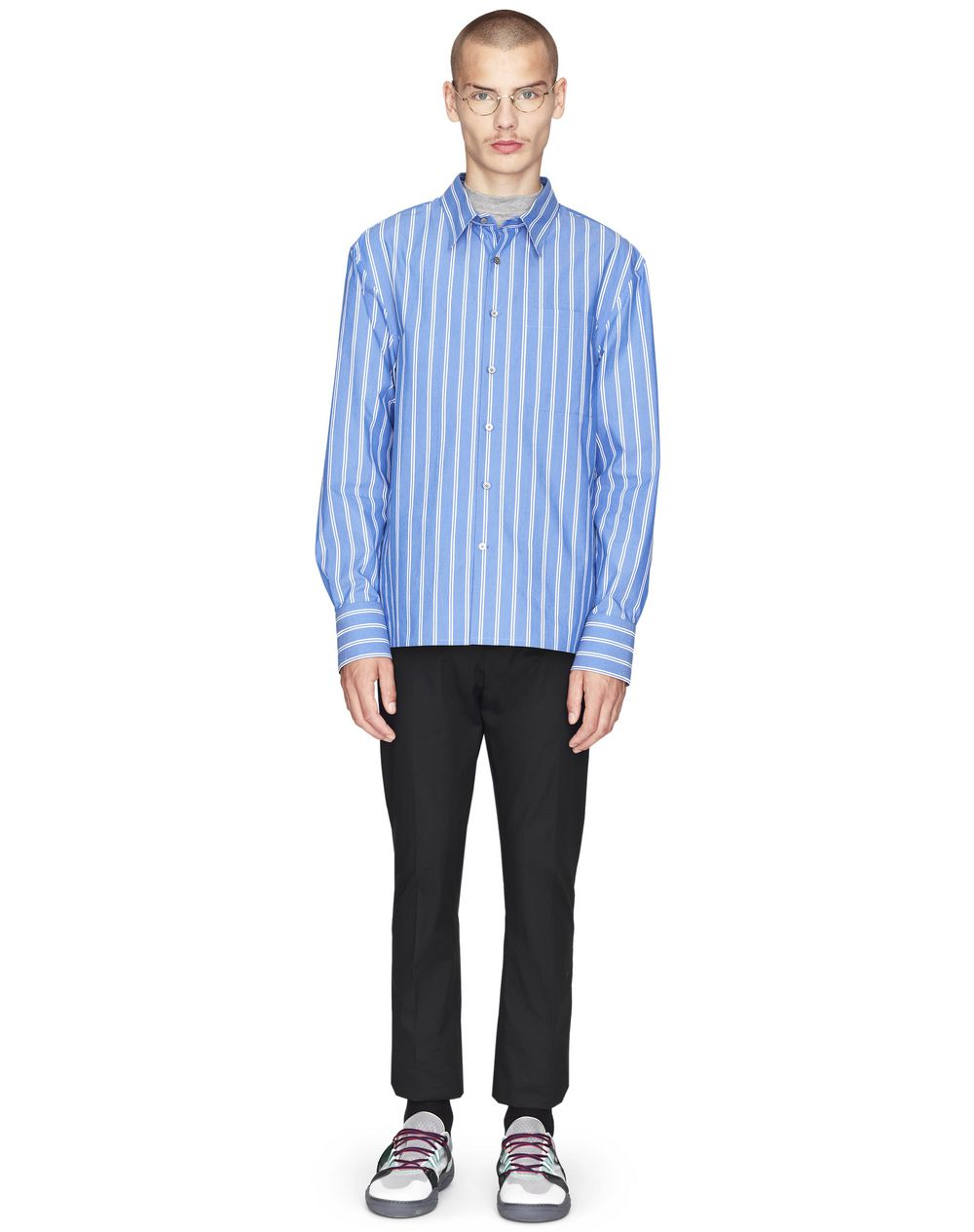 OVERSIZED DECKCHAIR-STRIPED SHIRT - Lanvin