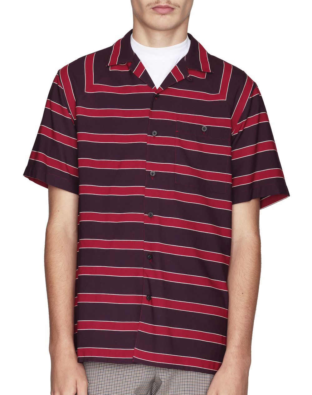 HORIZONTAL STRIPED BOWLING SHIRT - Lanvin