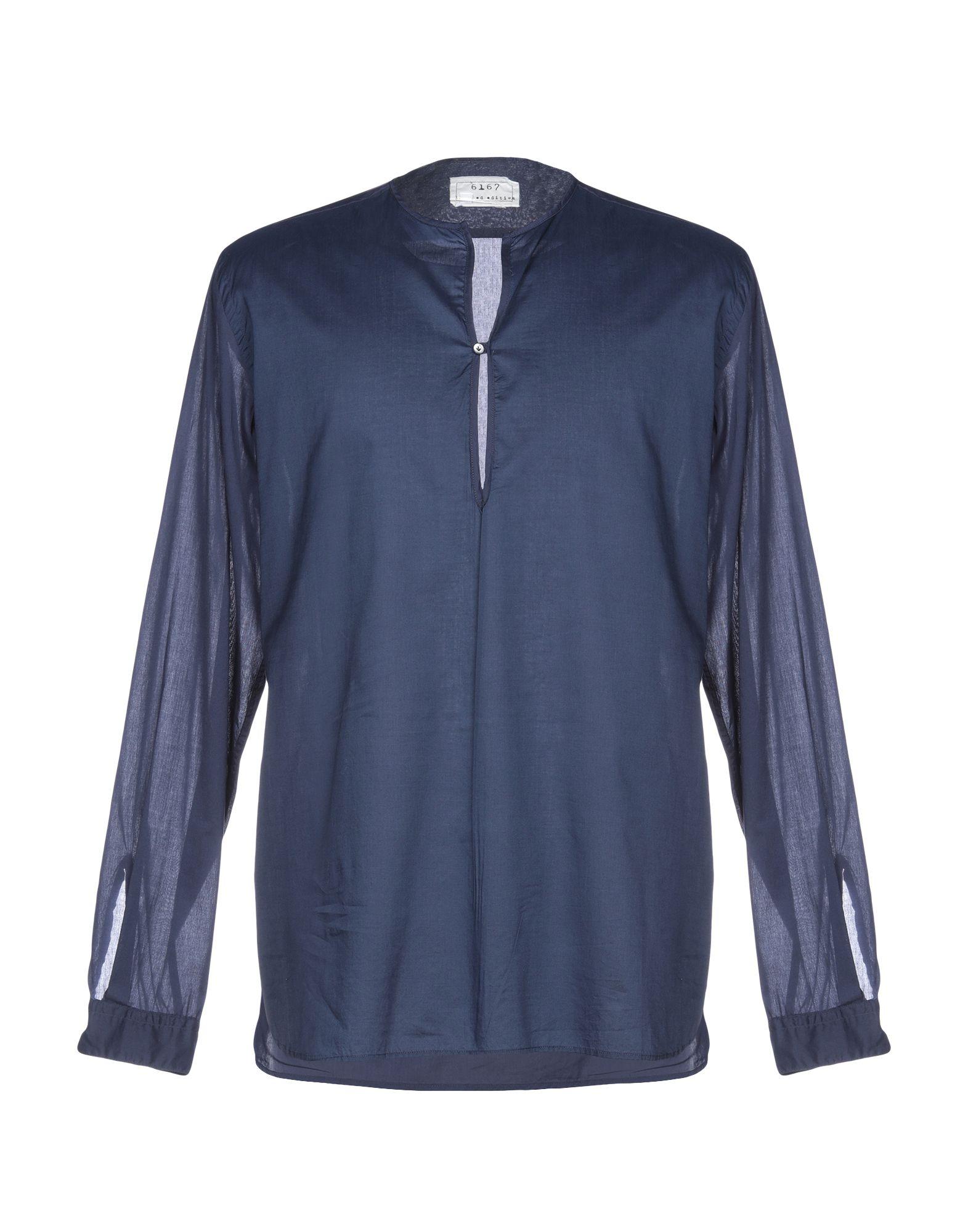 《送料無料》6167 メンズ シャツ ダークブルー 43 コットン 100%