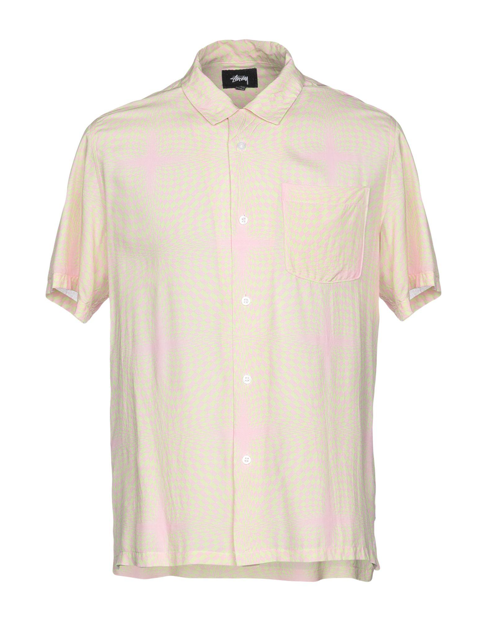 《送料無料》STUSSY メンズ シャツ ピンク S コットン 100%