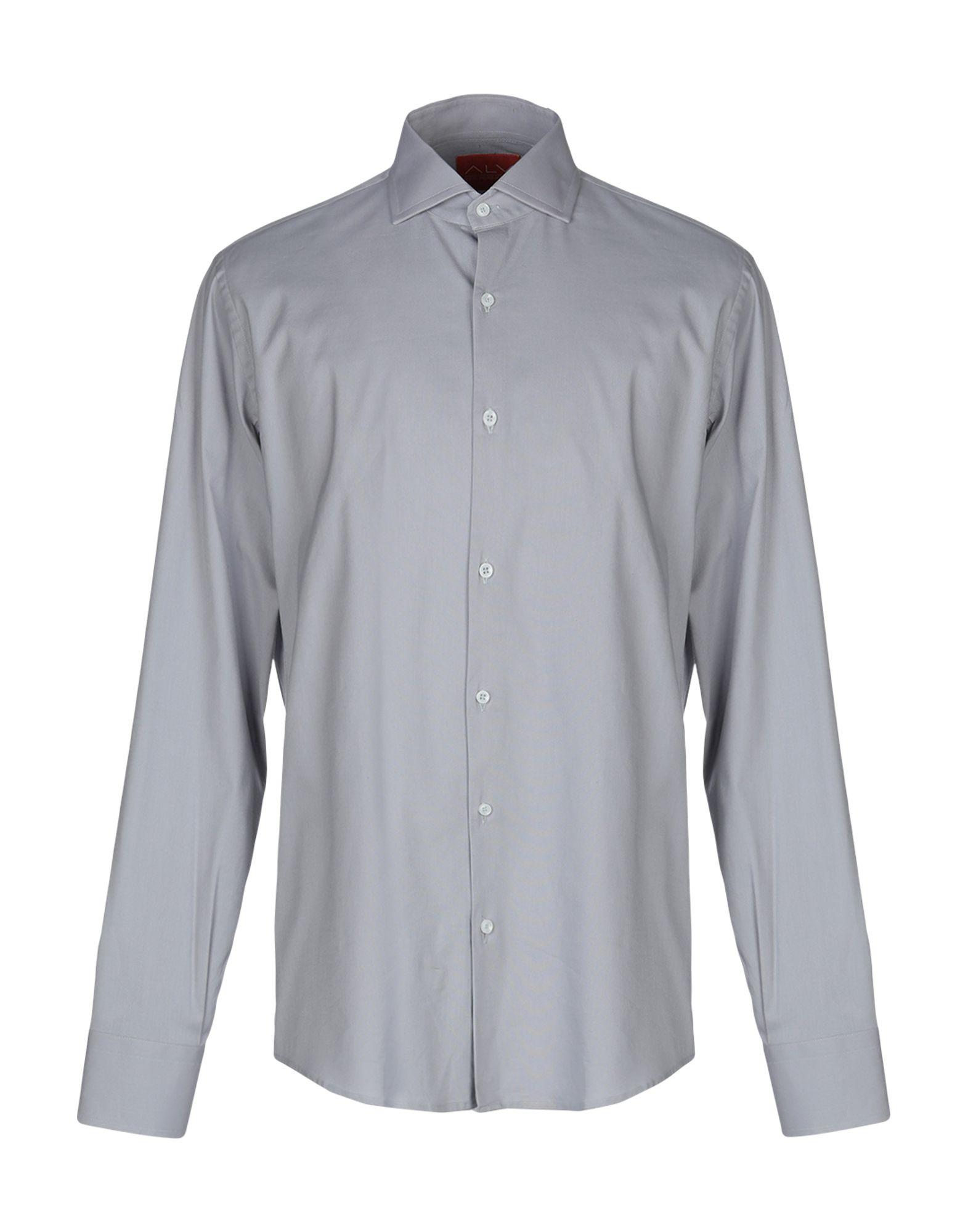 《期間限定セール中》ALV ANDARE LONTANO VIAGGIANDO メンズ シャツ グレー 39 コットン 100%