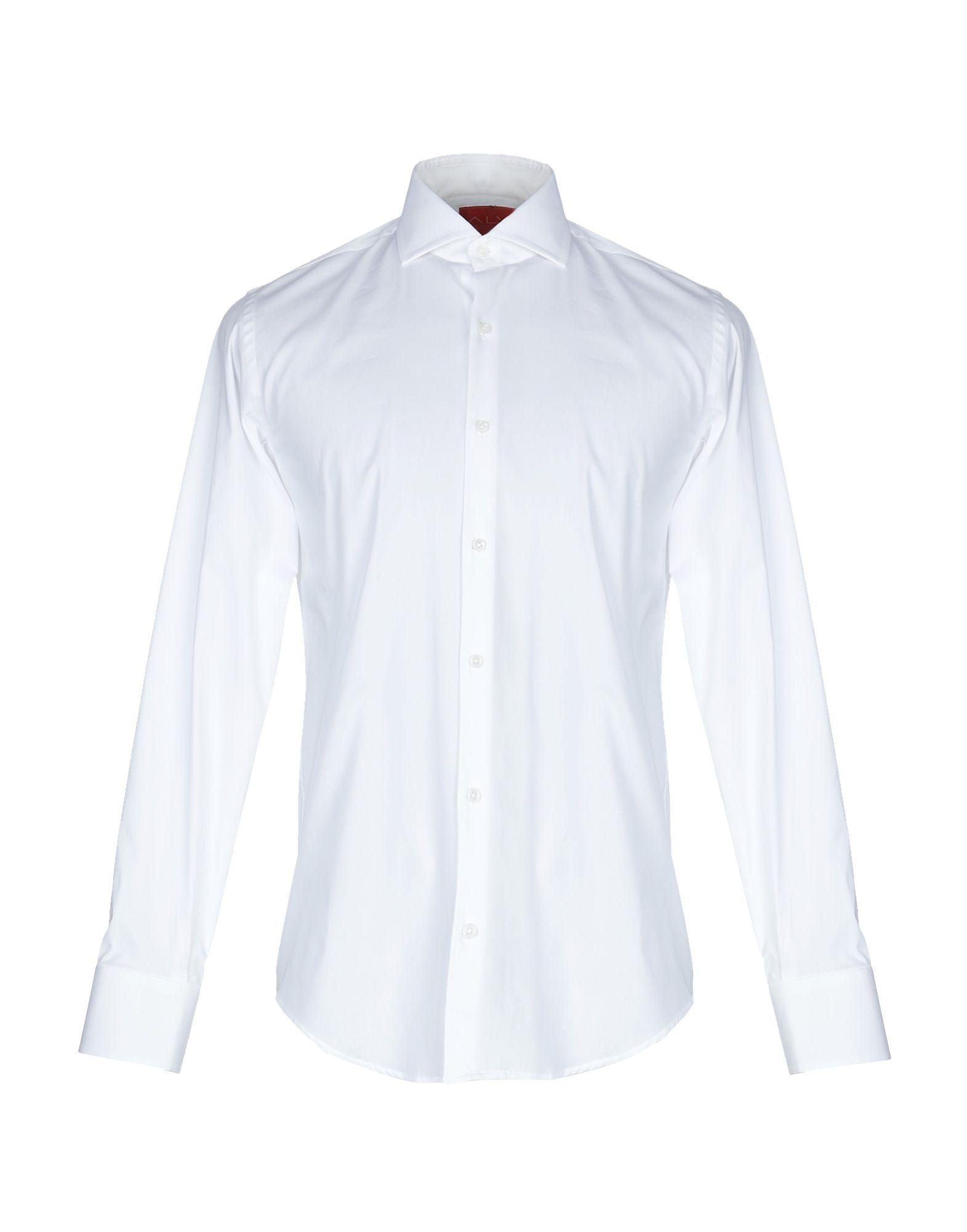 《期間限定セール中》ALV ANDARE LONTANO VIAGGIANDO メンズ シャツ ホワイト 40 コットン 100%