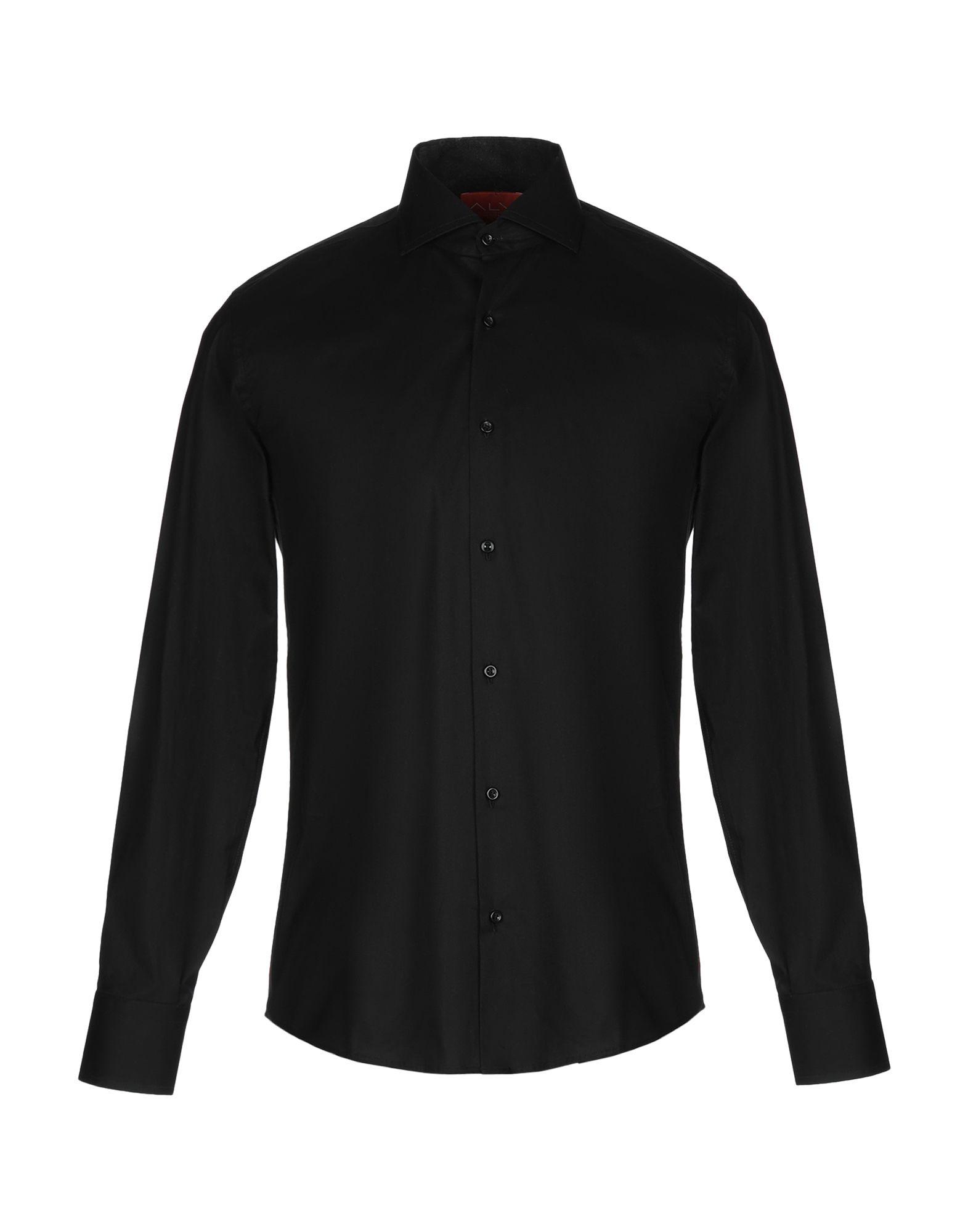 《セール開催中》ALV ANDARE LONTANO VIAGGIANDO メンズ シャツ ブラック 41 コットン 100%