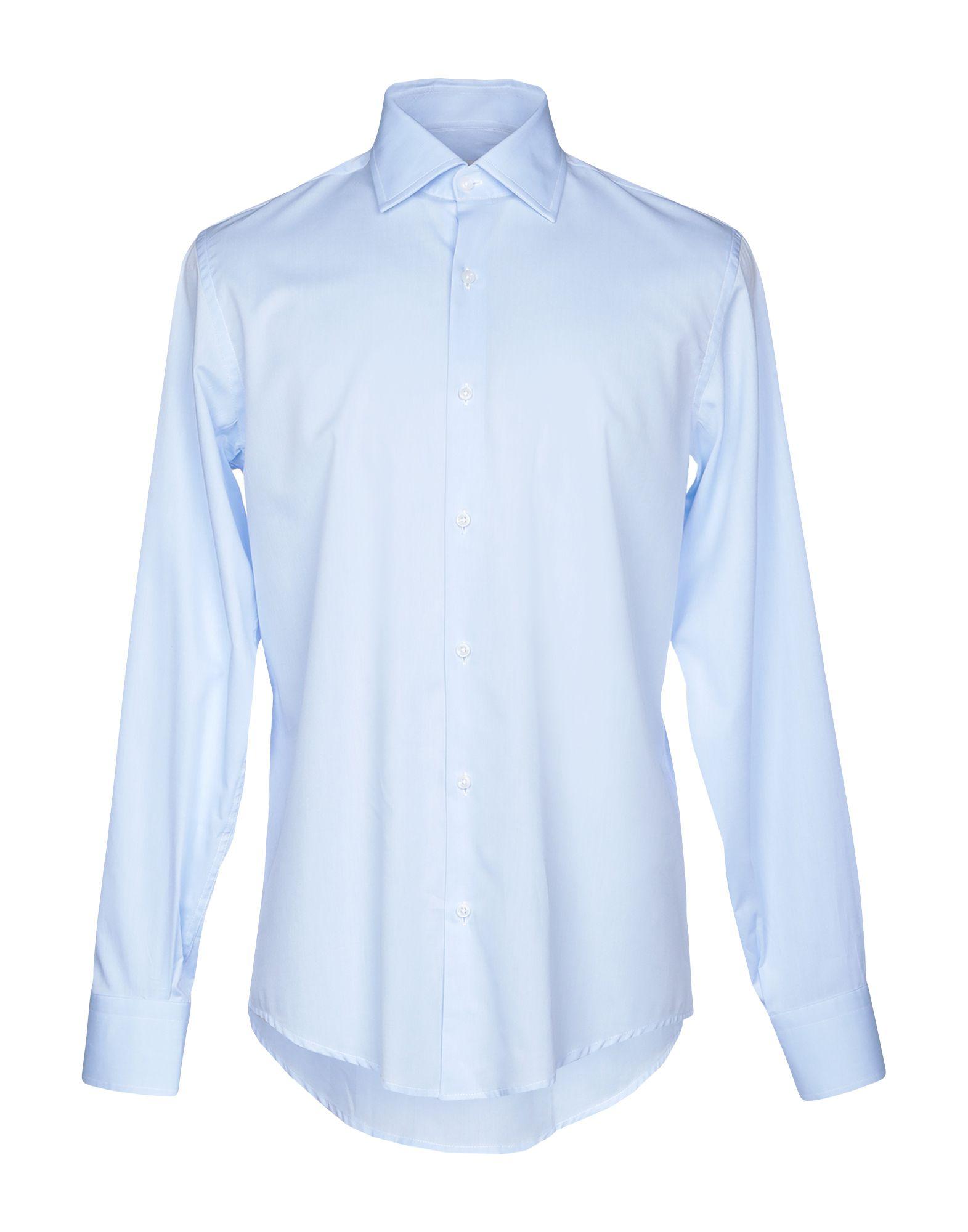 《送料無料》EGON von FURSTENBERG メンズ シャツ アジュールブルー 39 コットン 100%