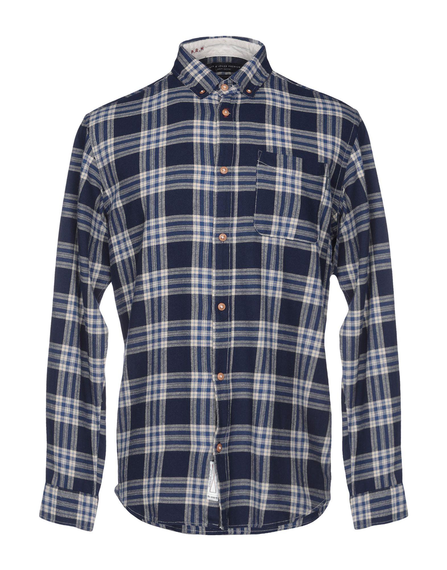 《送料無料》JACK & JONES PREMIUM メンズ シャツ ダークブルー S コットン 100%