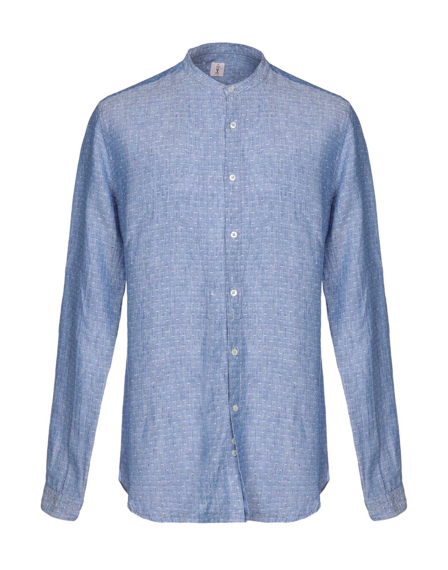 《期間限定セール開催中!》24 TAR Milano メンズ シャツ パステルブルー 43 コットン 100%