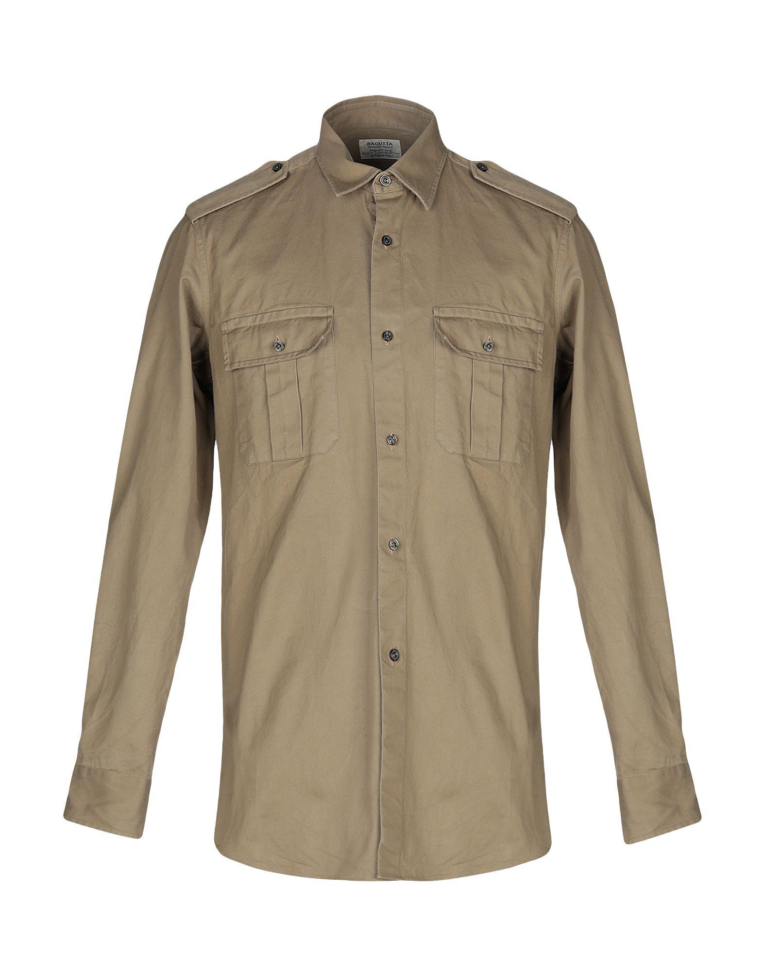 《送料無料》BAGUTTA メンズ シャツ サンド 2 コットン 100%