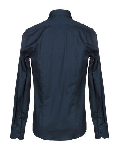 Фото 2 - Pубашка от ALV ANDARE LONTANO VIAGGIANDO темно-синего цвета
