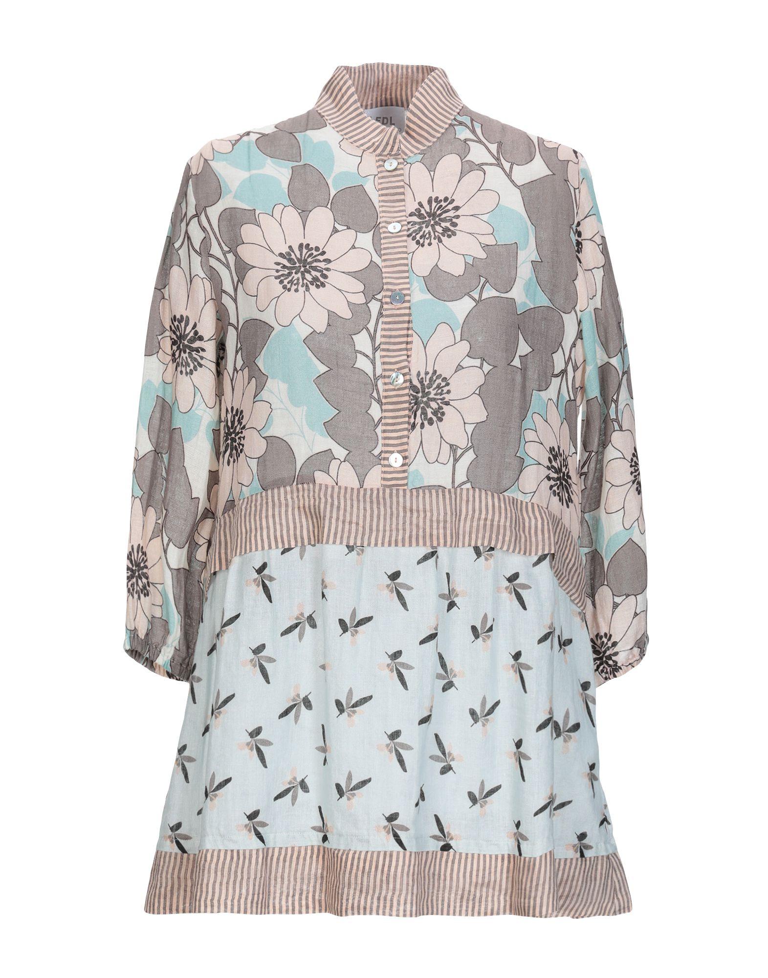 LA FABBRICA del LINO Блузка блузка женская la via estelar цвет зеленый 33951 размер 52
