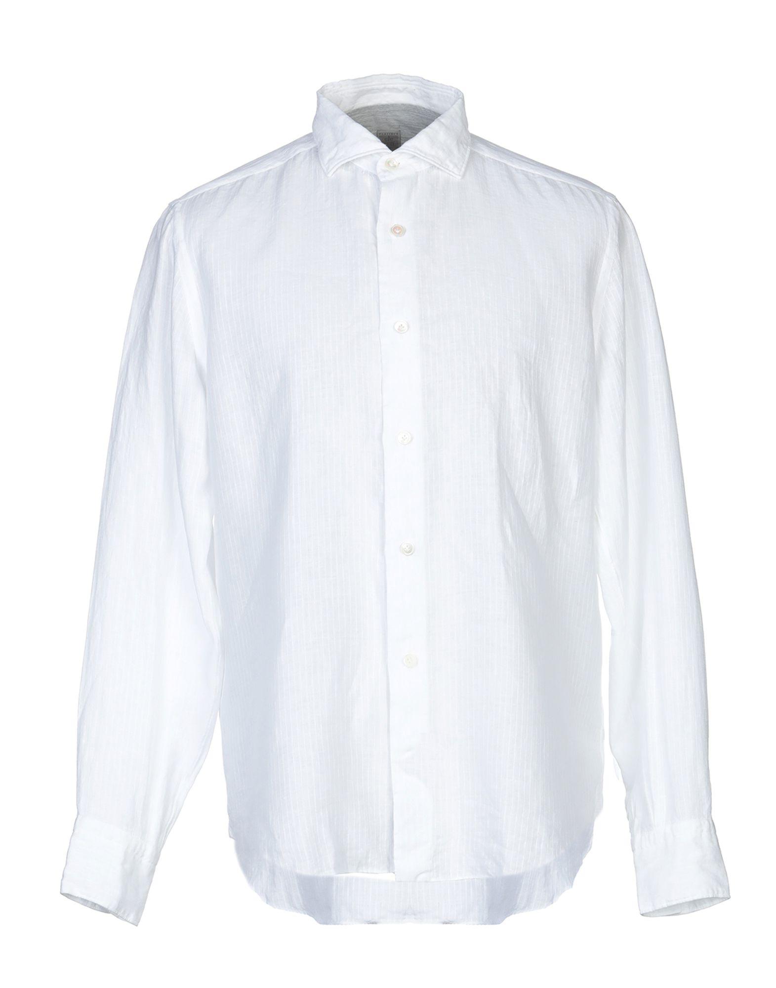 《送料無料》ELEVENTY メンズ シャツ ホワイト 42 麻 100% / コットン
