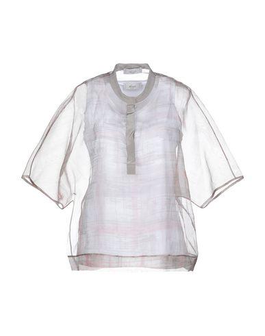 Фото - Женскую блузку ACCUÀ by PSR светло-серого цвета