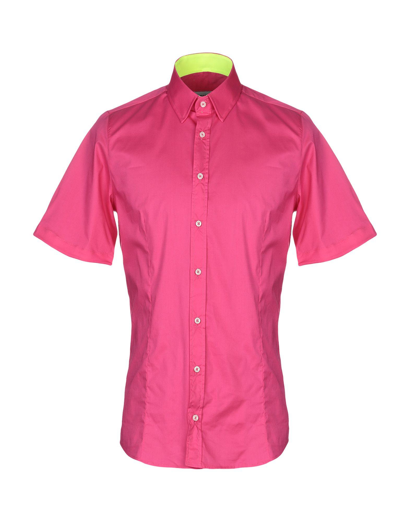 《送料無料》BRIAN RUSH メンズ シャツ フューシャ XL コットン 100%