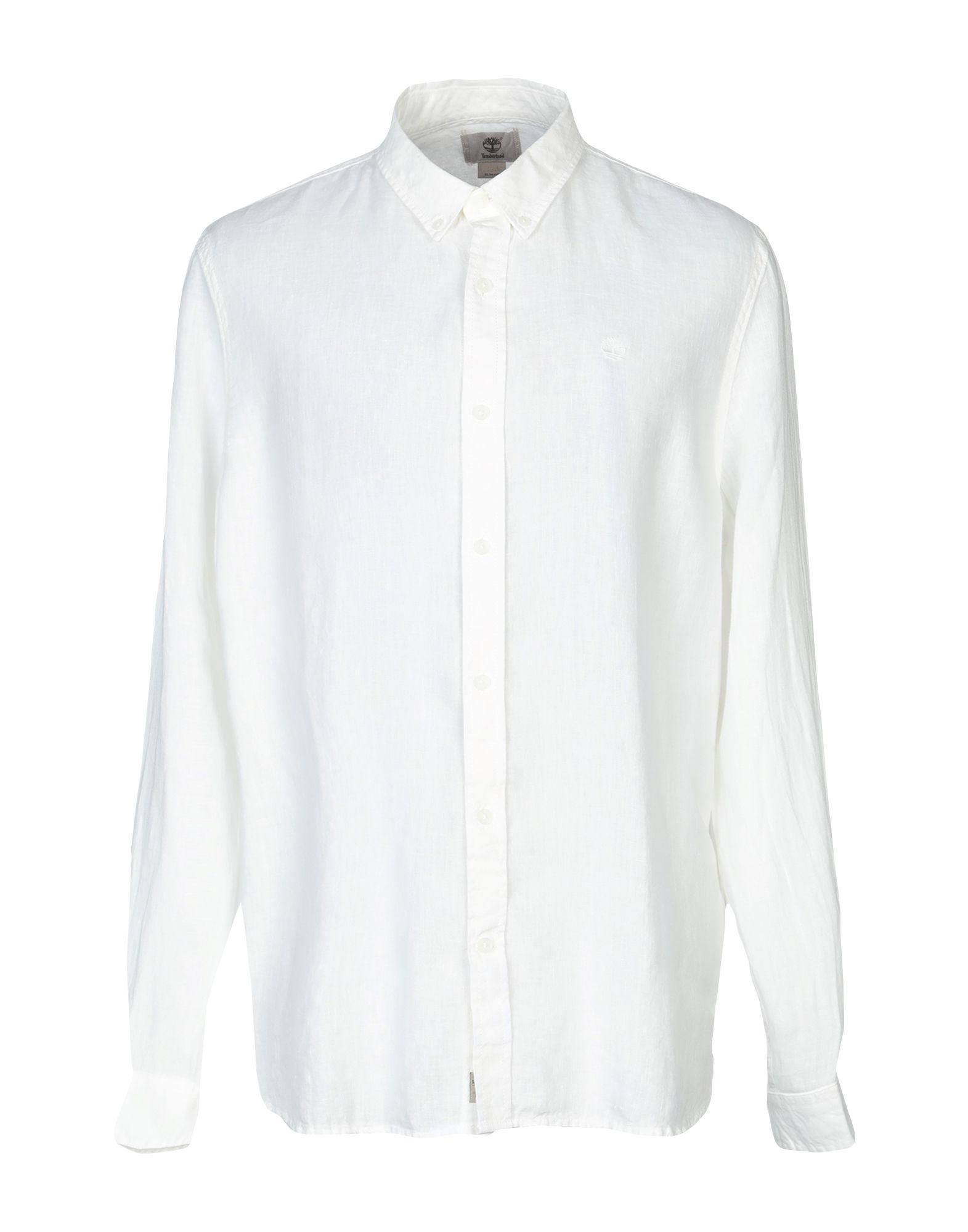 《送料無料》TIMBERLAND メンズ シャツ アイボリー XL 麻 100%