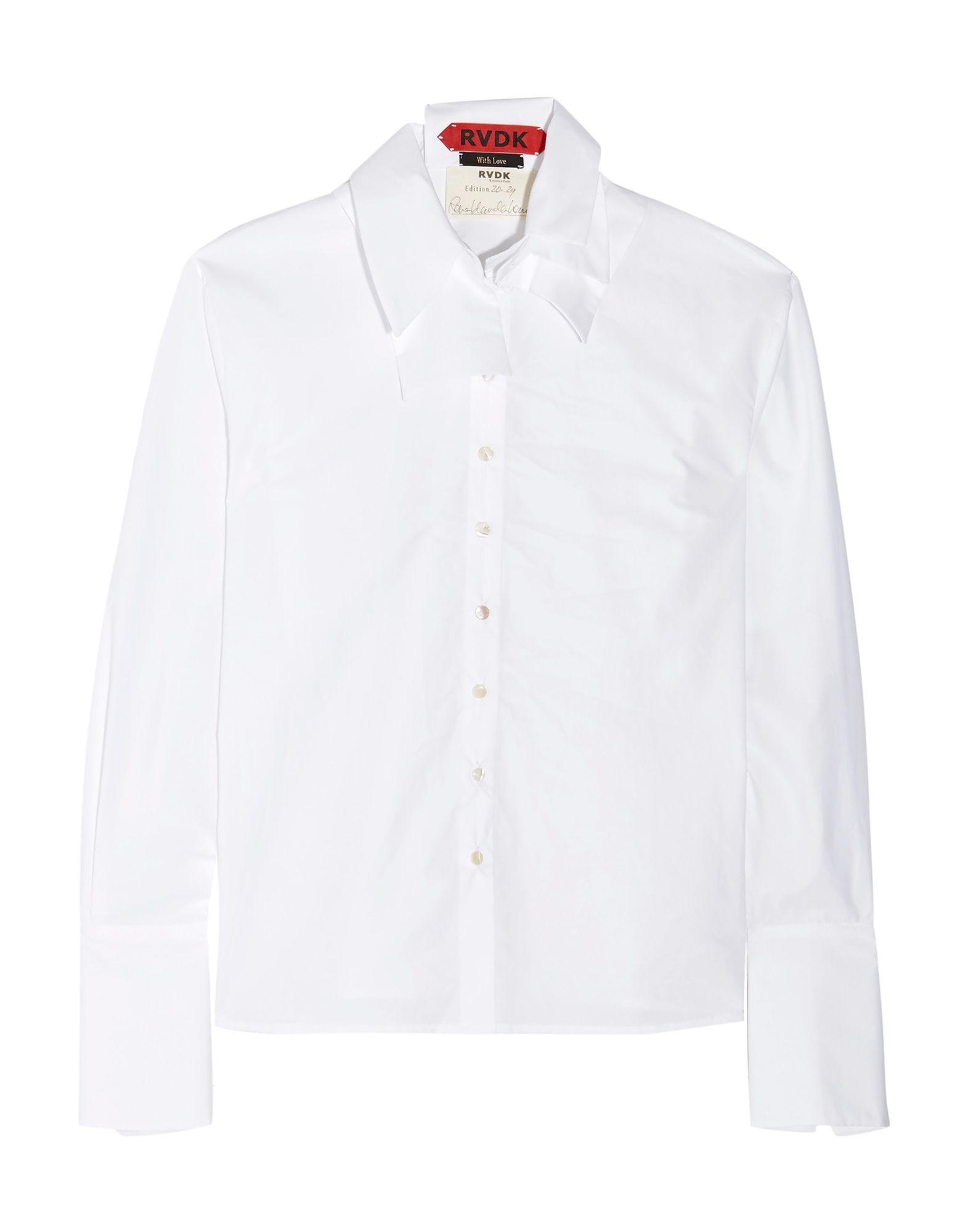 《セール開催中》RONALD VAN DER KEMP レディース シャツ ホワイト 40 コットン 100%