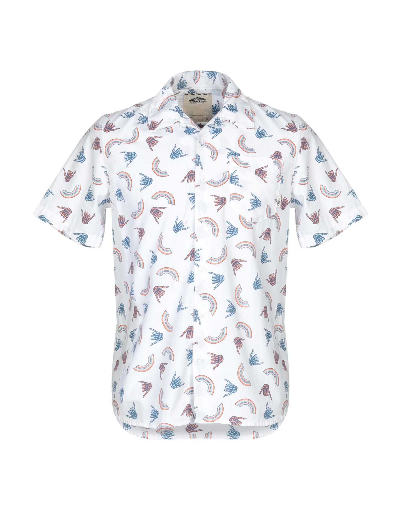 《送料無料》VANS メンズ シャツ ホワイト S コットン