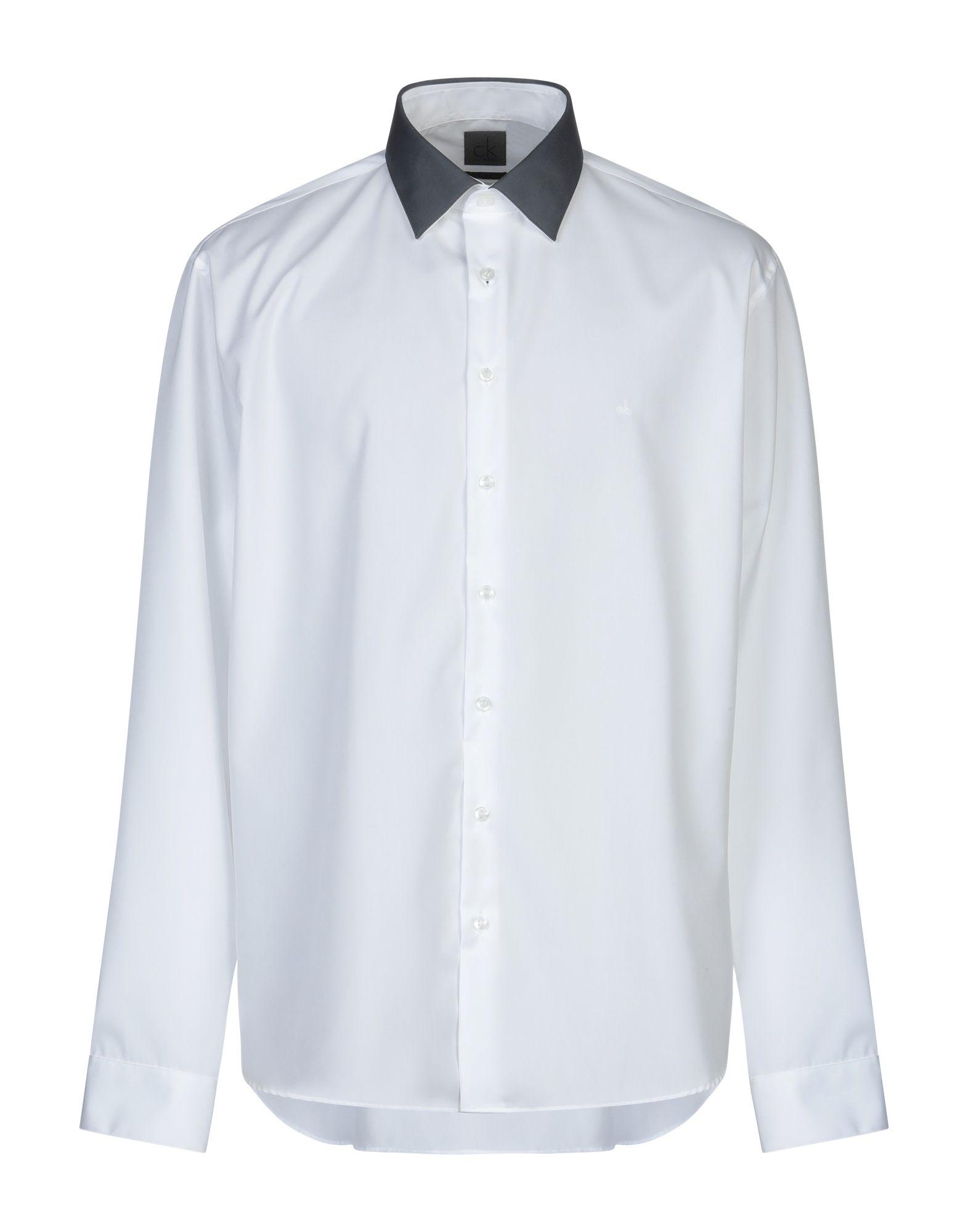 《送料無料》CK CALVIN KLEIN メンズ シャツ ホワイト 37 コットン 100%